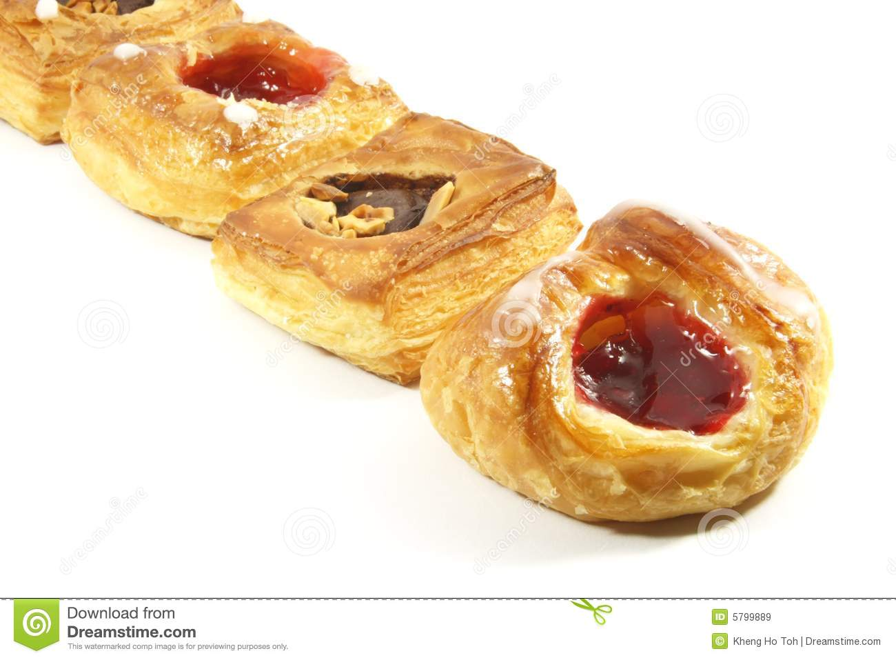 Butter puff pastry danishes royalty free stock images image 5799889