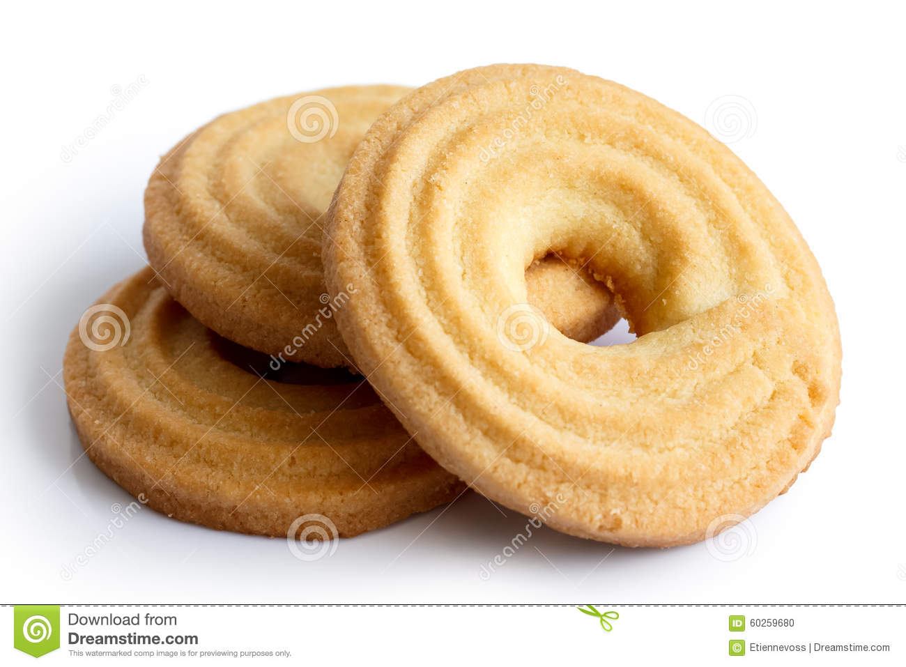 Butter Ring Biscuit Stock Photo Image 60259680