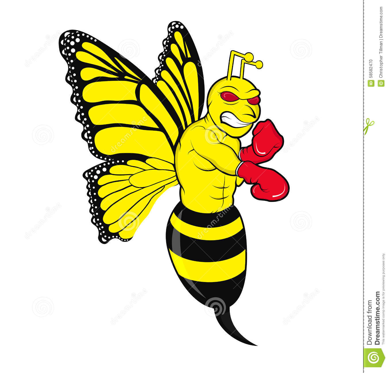 butterbee stock illustration image 58582470 Vector Flower Simple Butterfly Vector