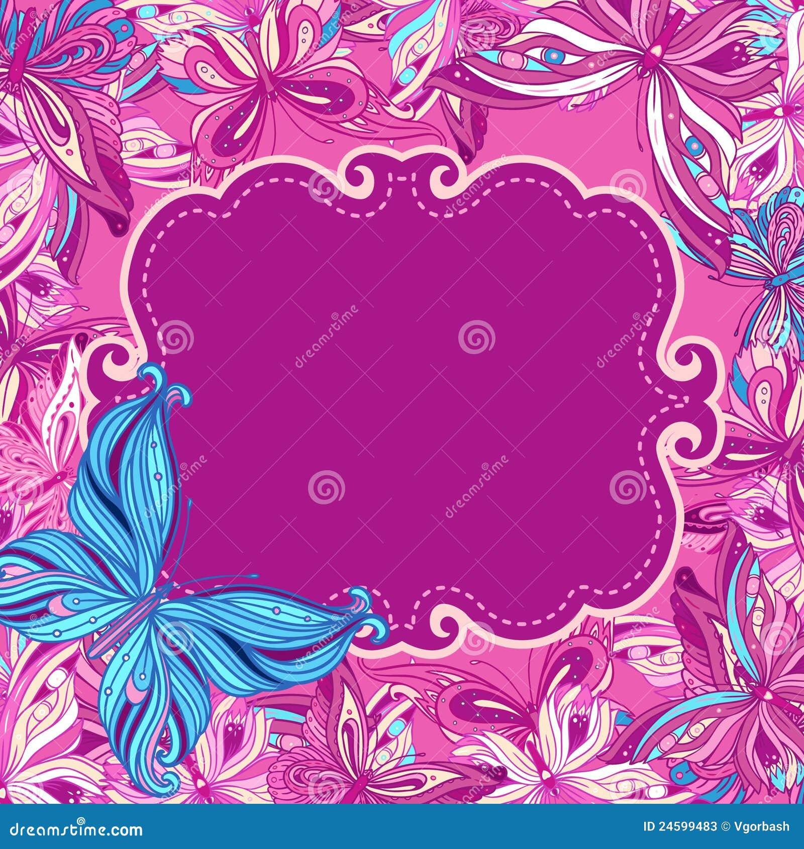 Butterflies Background Design Stock Photos - Image: 24599483