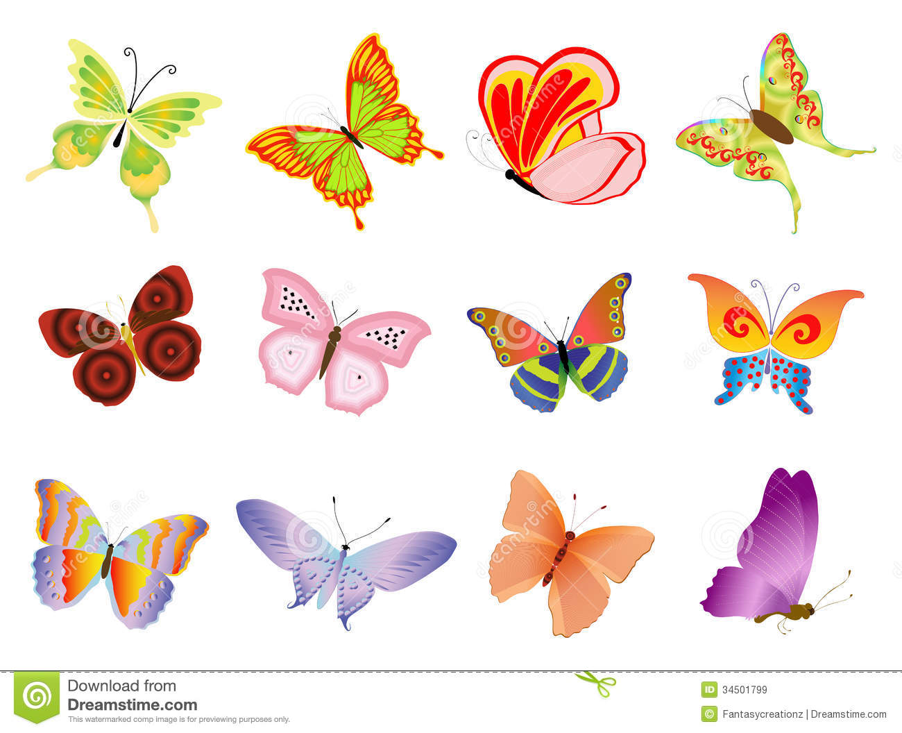 Butterflies Royalty Free Stock Images - Image: 34501799