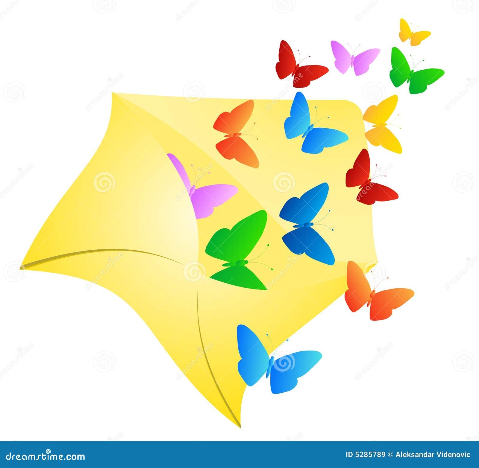 Download Butterflies in envelope stock vector. Illustration of ...