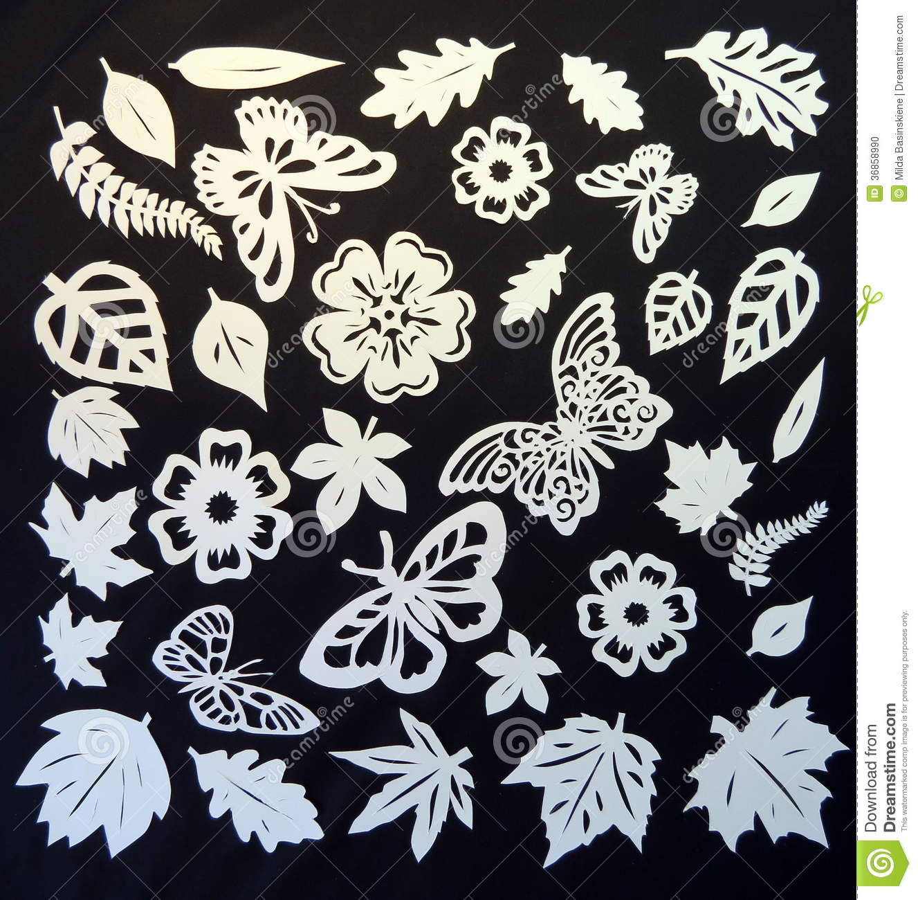 Butterflies leaves and flowers pattern paper cutting stock photo download butterflies leaves and flowers pattern paper cutting stock photo image of mightylinksfo