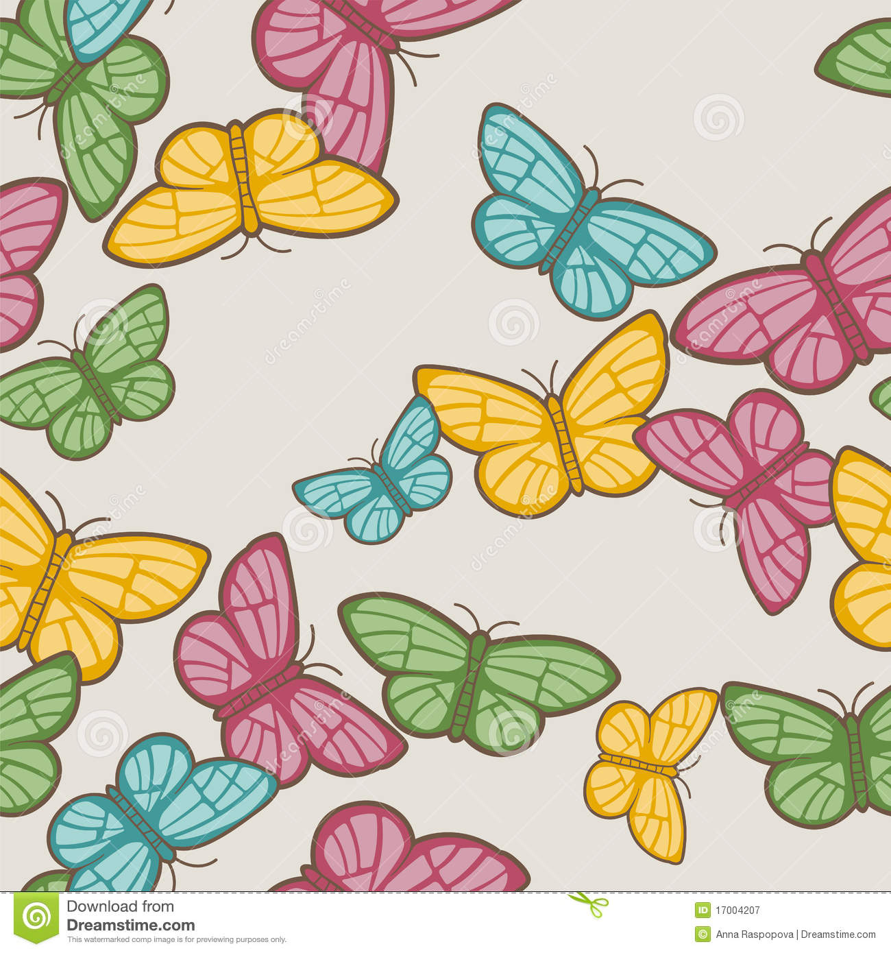 butterflies pattern royalty free stock photography image 17004207