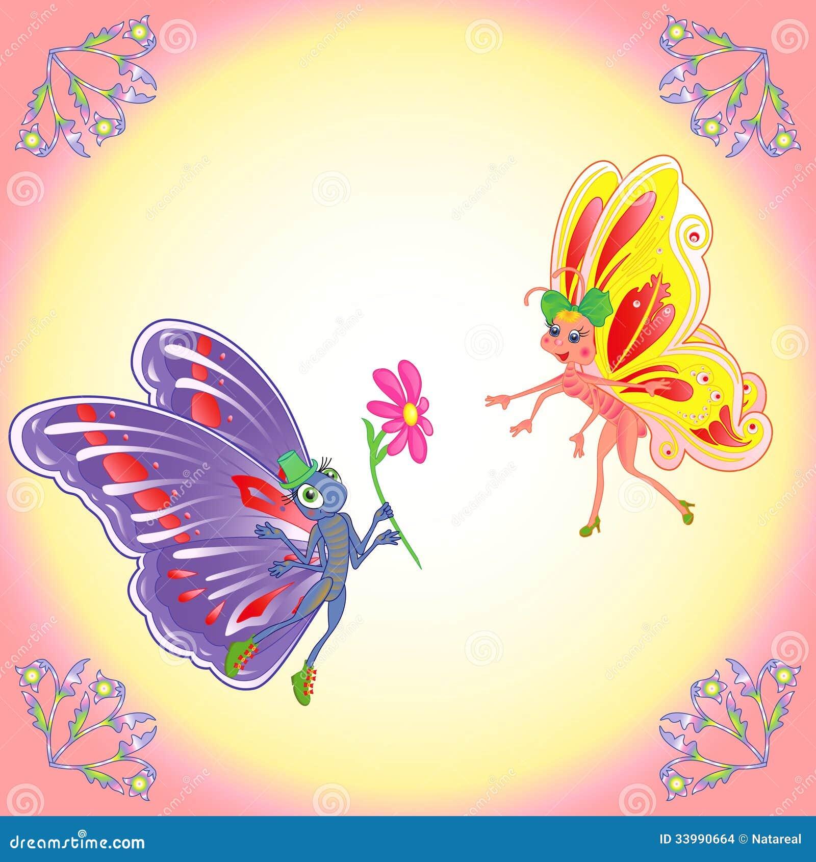 butterflies romantic pair stock images   image 33990664