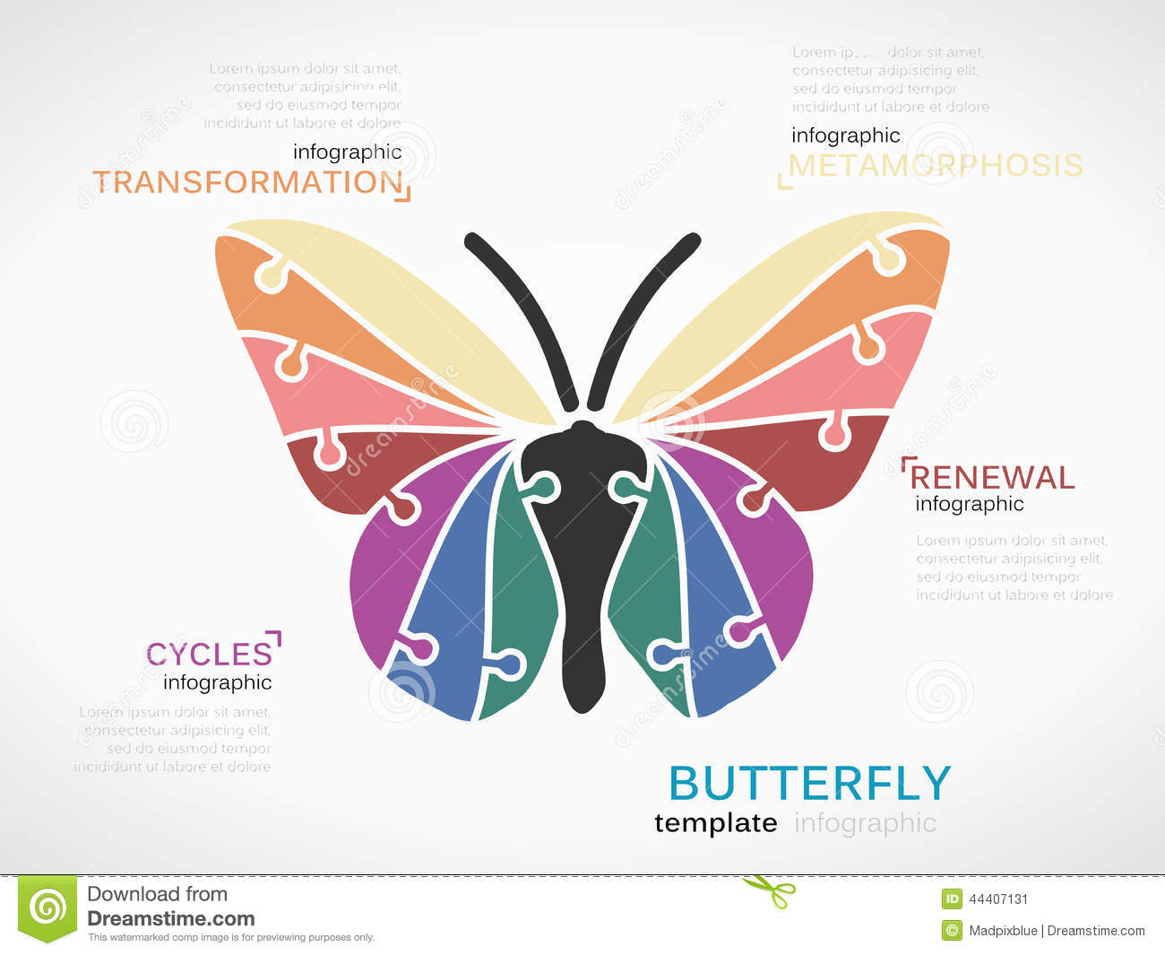 Butterfly Stock Vector - Image: 44407131