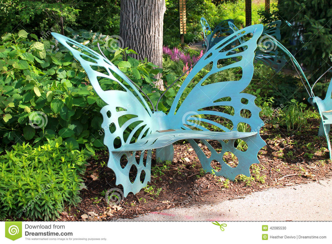 Butterfly Bench Stock Photo Image Of Expression Beauty