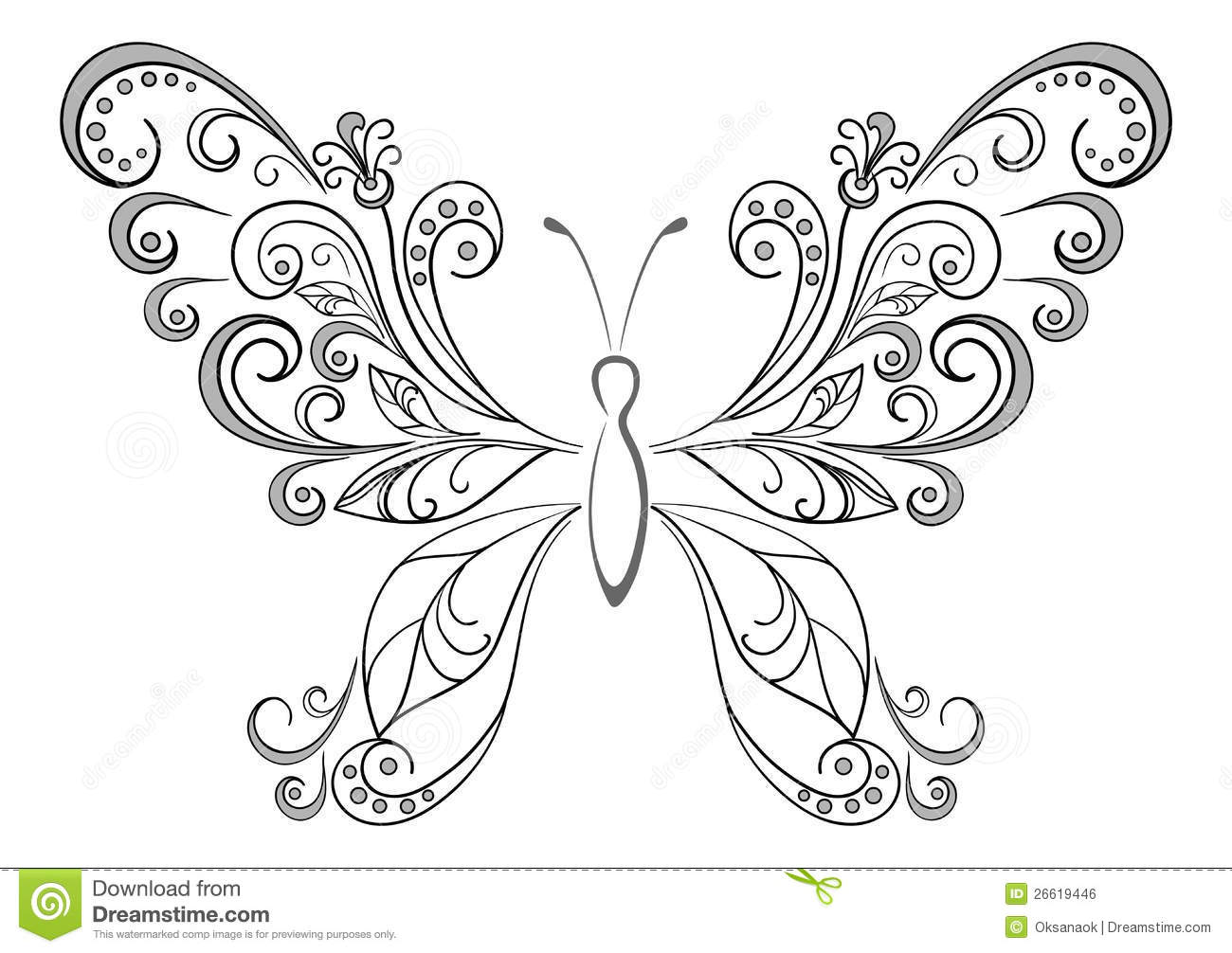 Royalty Free Stock Photo Download Butterfly Black Silhouettes Vector