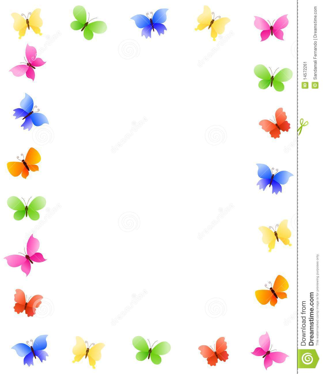Butterfly Border Stock Vector Illustration Of Accent