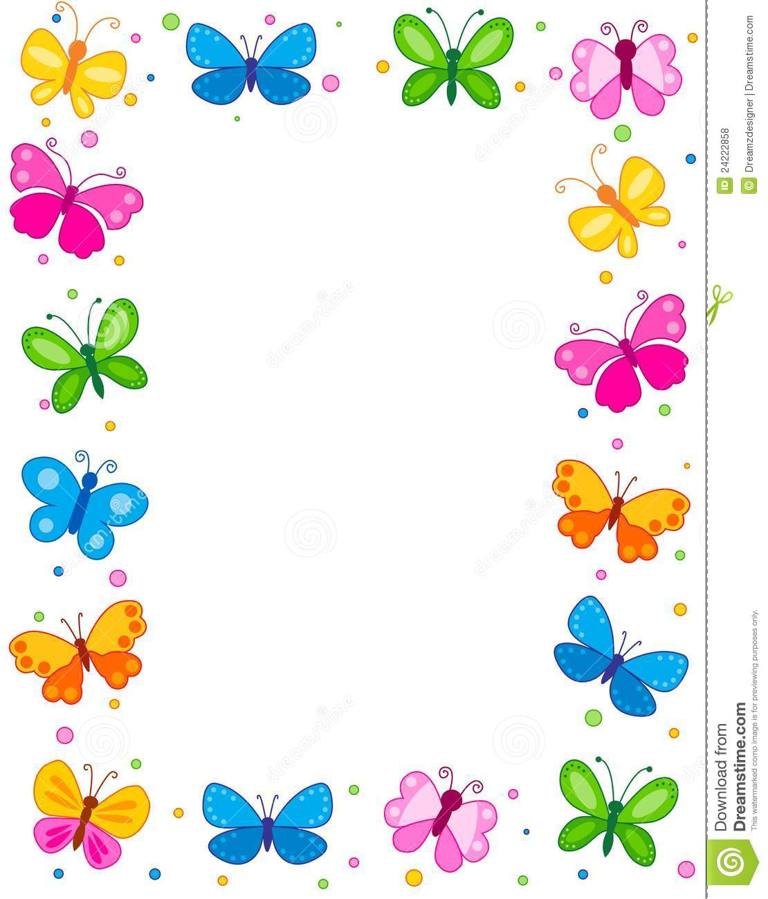 butterfly border royalty free stock photos image 24222858