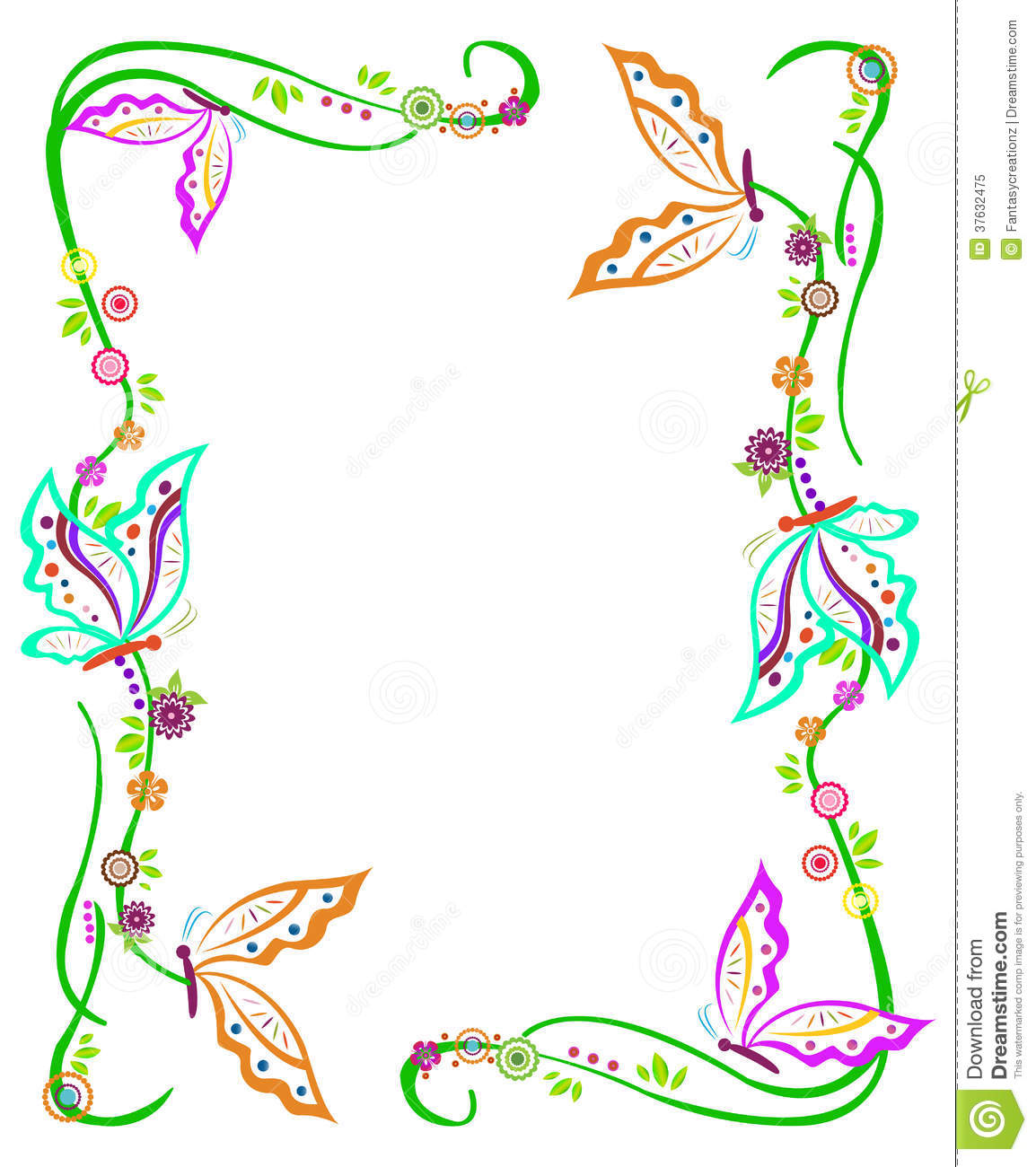 Download Butterfly Border Stock Vector Illustration Of Cliparts