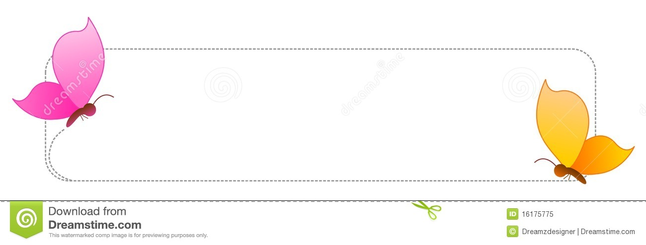 Butterfly Border / Frame Royalty Free Stock Photo - Image: 16175775