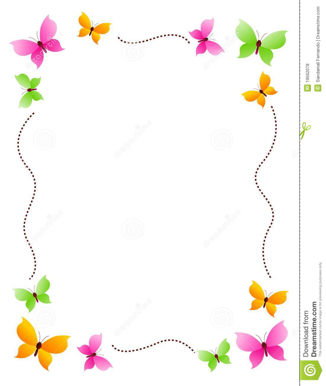Butterfly Clip Art Borders and Frames