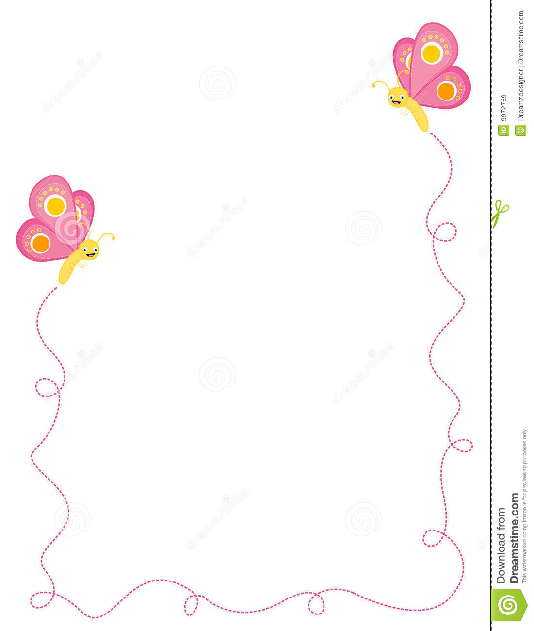 Butterfly Border / Frame Royalty Free Stock Images - Image: 9972769