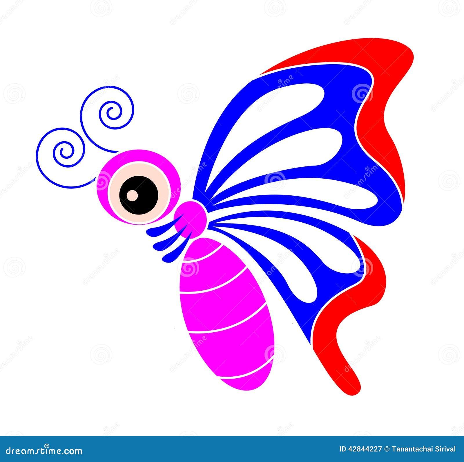 butterfly cartoon stock vector image 42844227