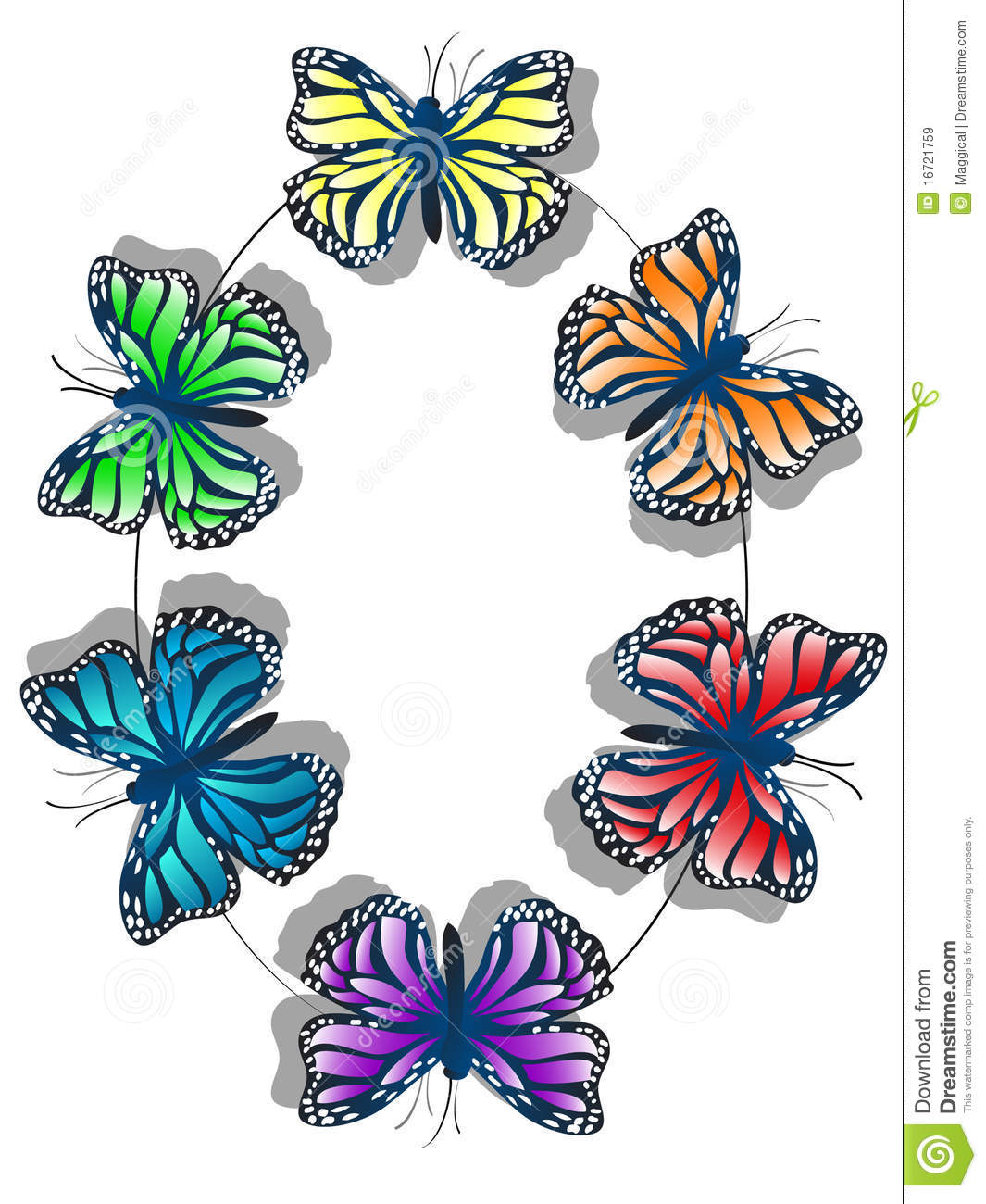 butterfly color wheel royalty free stock photo