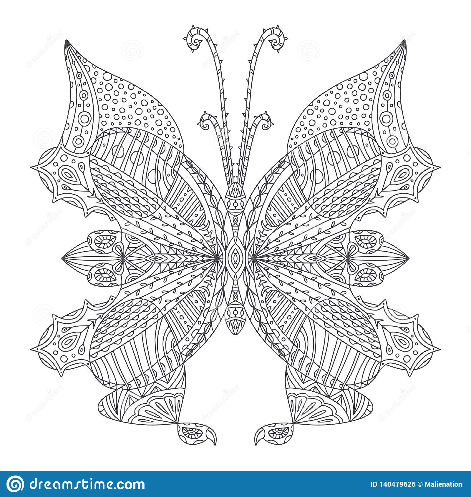 52 Butterfly Coloring Book For Adults Free