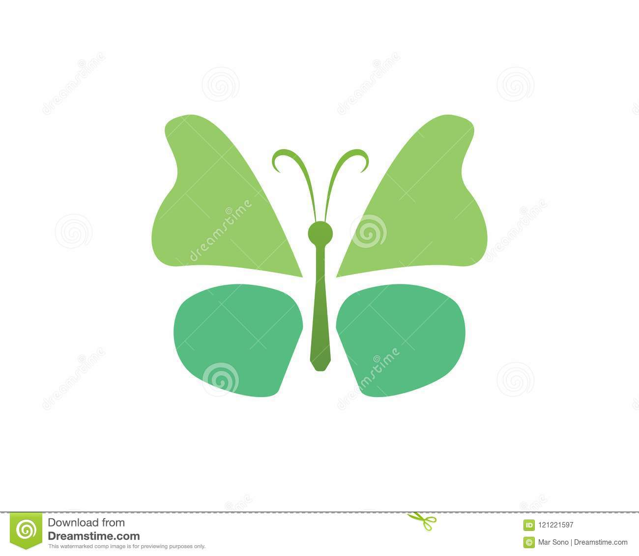 Butterfly Beauty Logo Simple, Colorful Icon  Logo  Vector