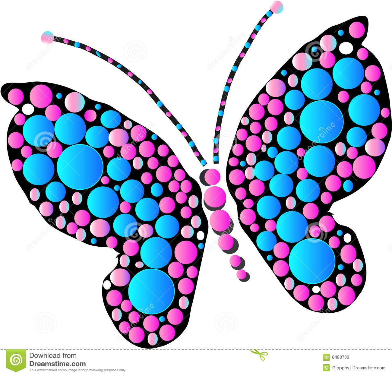 Multicolored butterfly designs as art and graphic illustration vector.