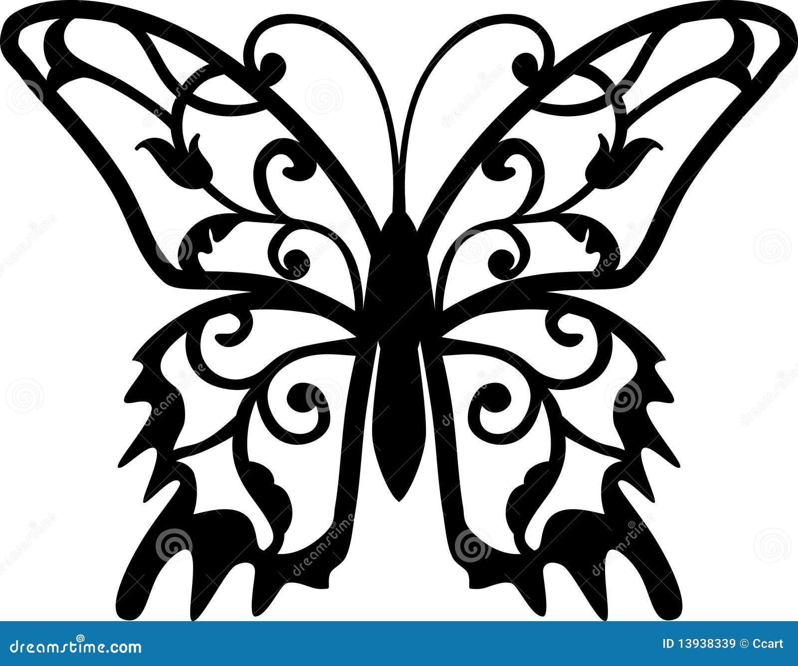 flower butterfly stencil