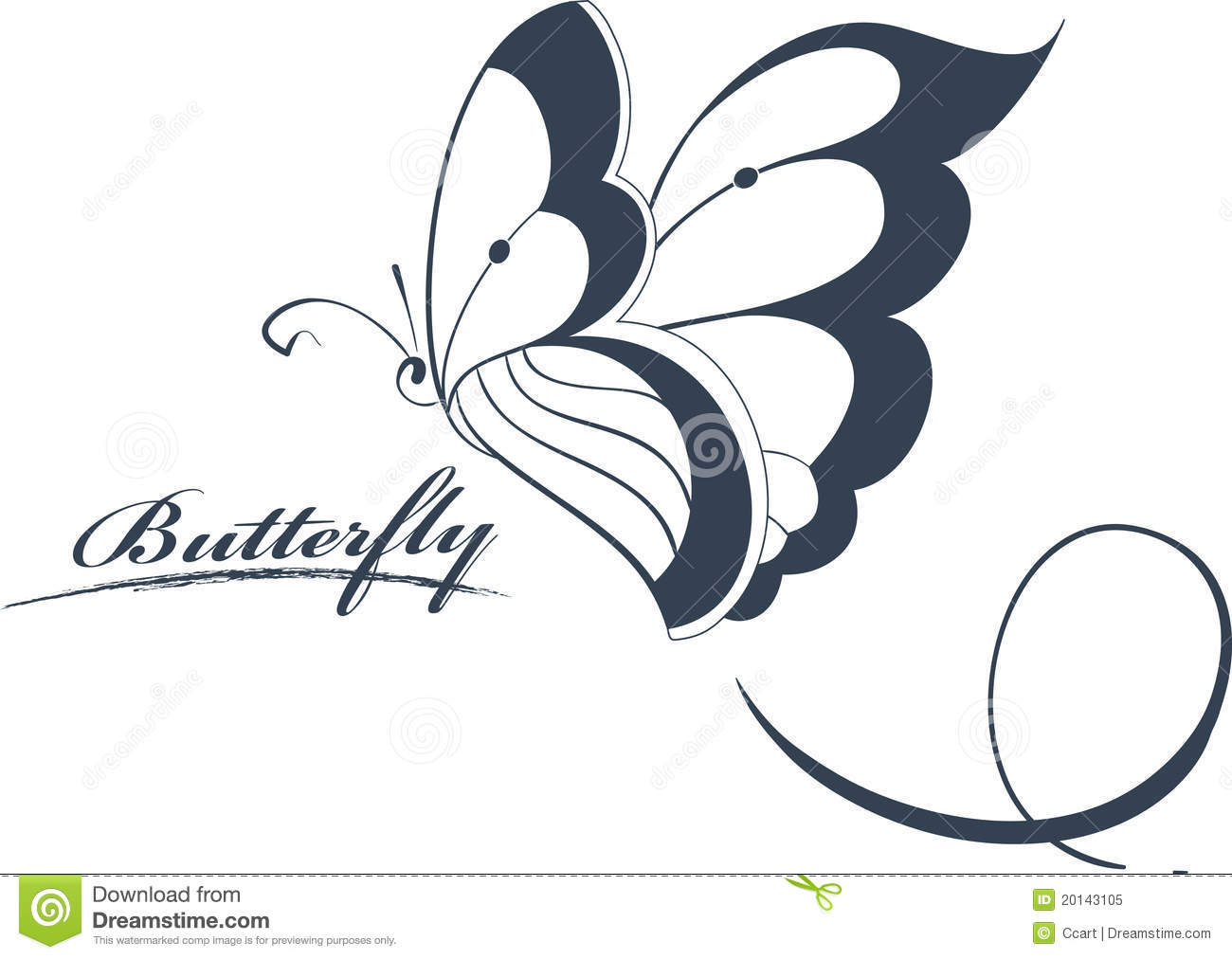 butterfly design element royalty free stock photo   image