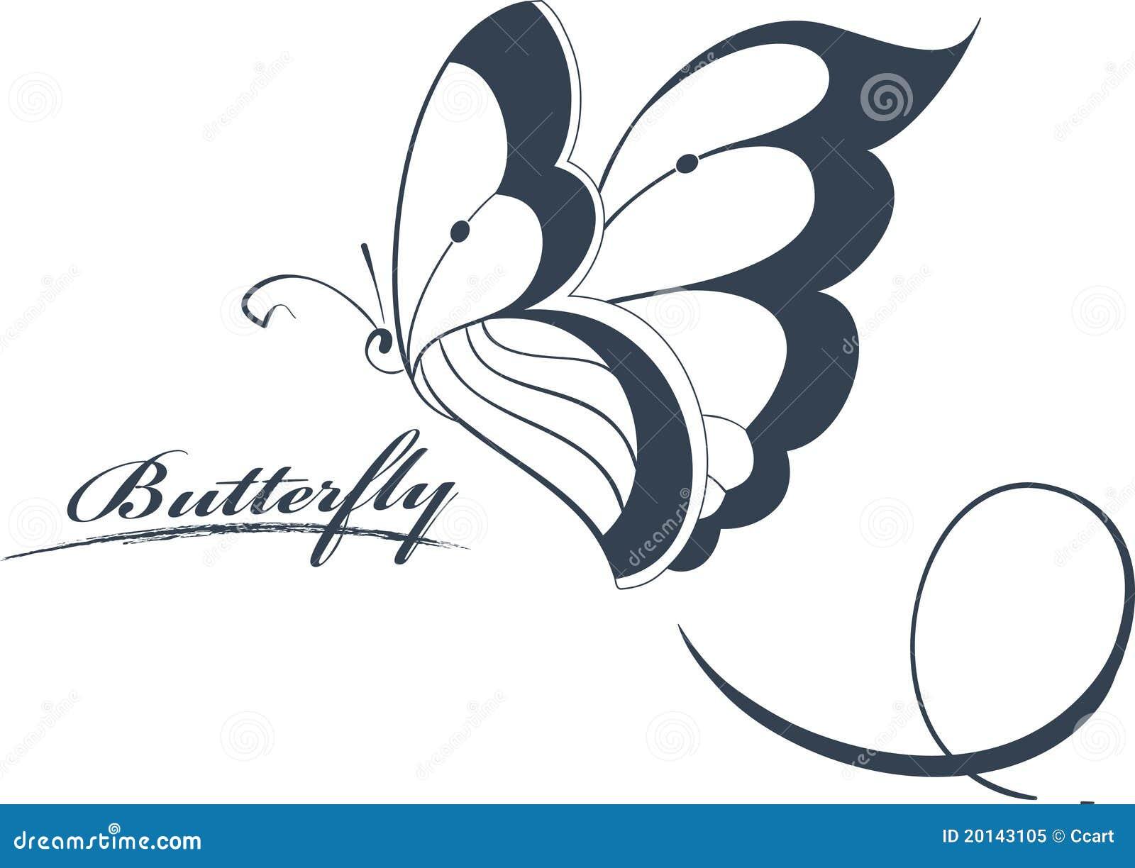 Butterfly Design Element stock vector. Illustration of