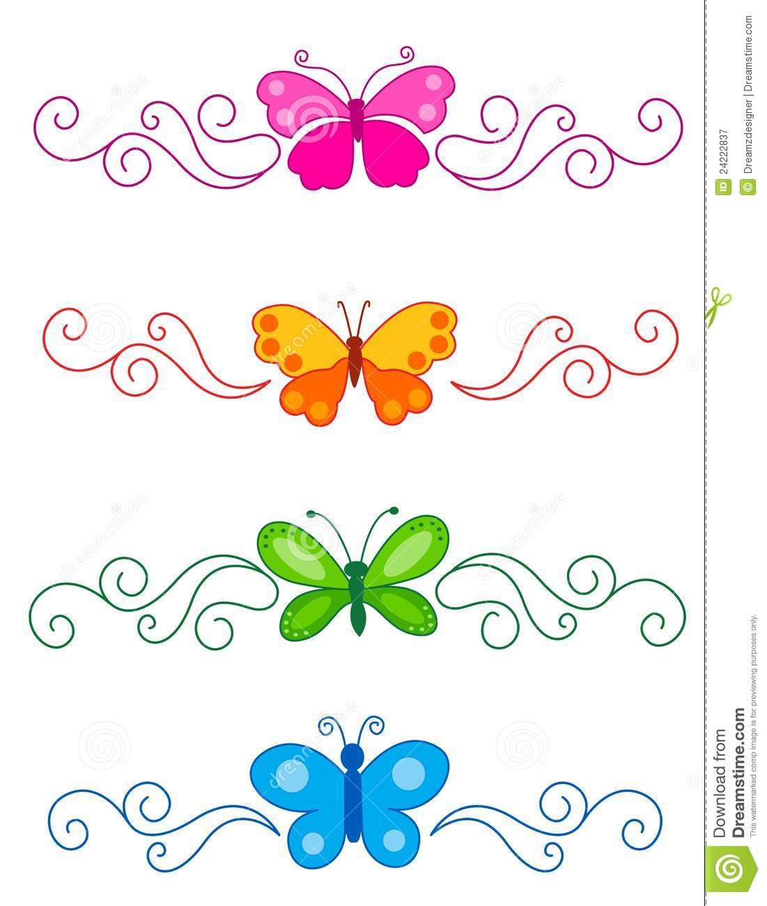 Butterfly Divider Royalty Free Stock Photography - Image ...