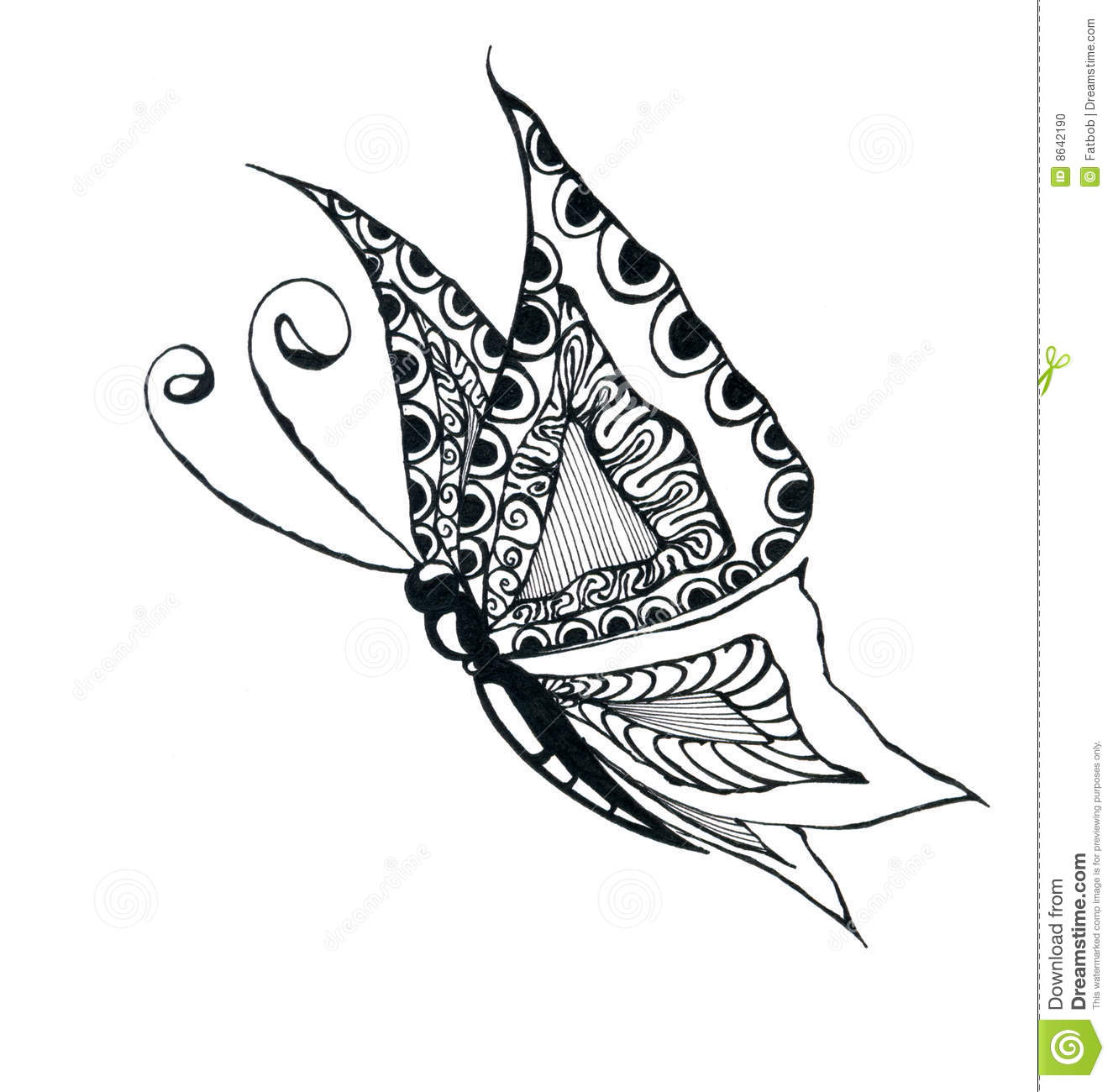 Butterfly drawing stock illustration. Illustration of ...