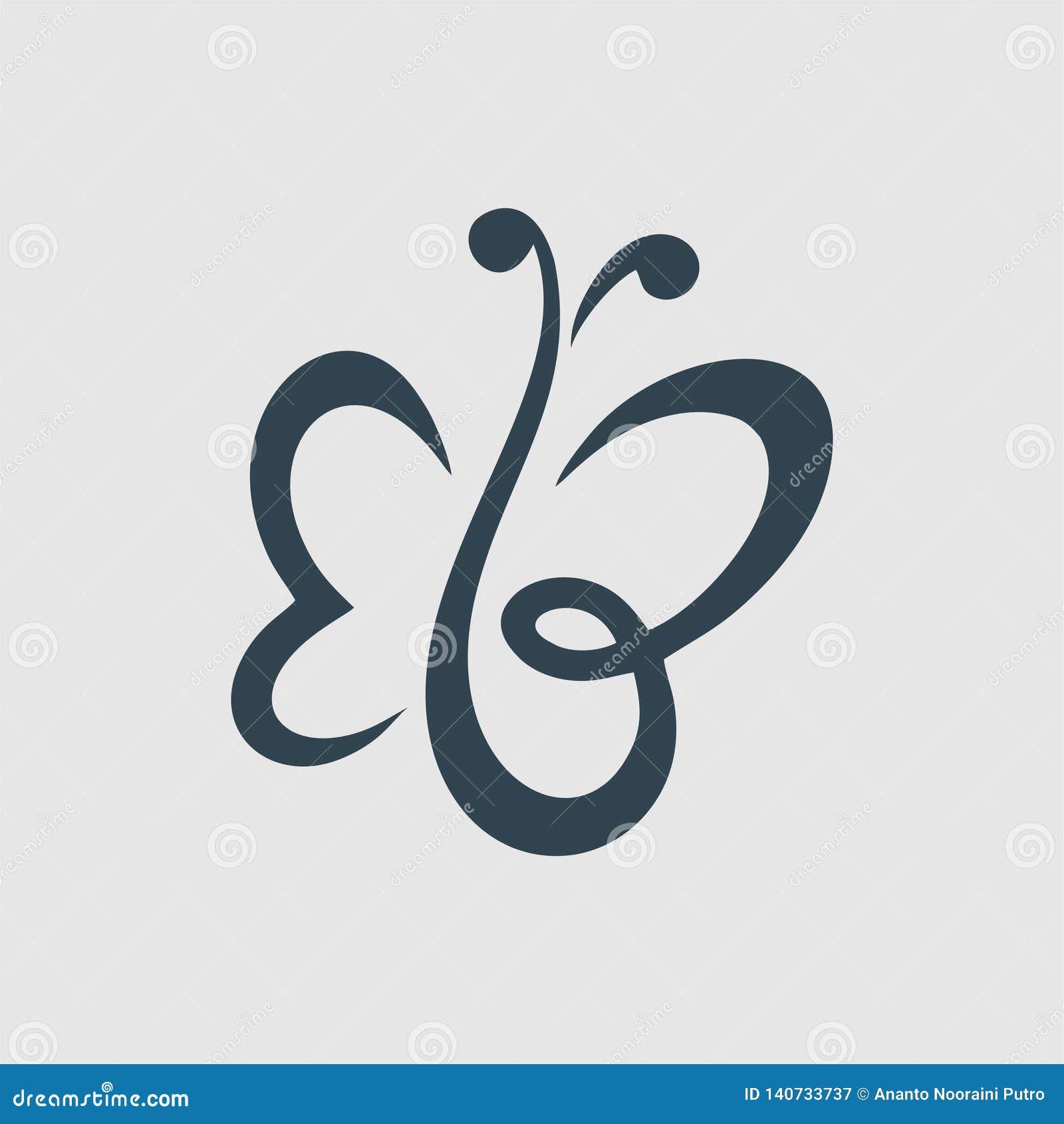 The Butterfly Or Eb Monogram Design Logo Inspiration Stock Image Illustration Of Design Logo 140733737