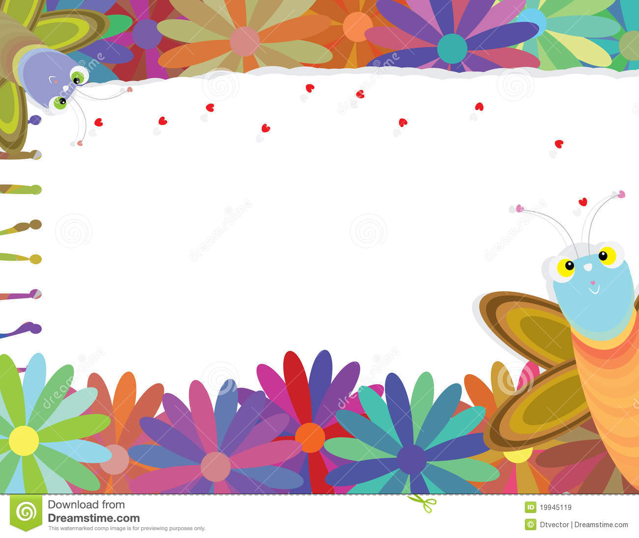 Simple Flower Border Designs For A4 Paper Butterfly follow loves ...