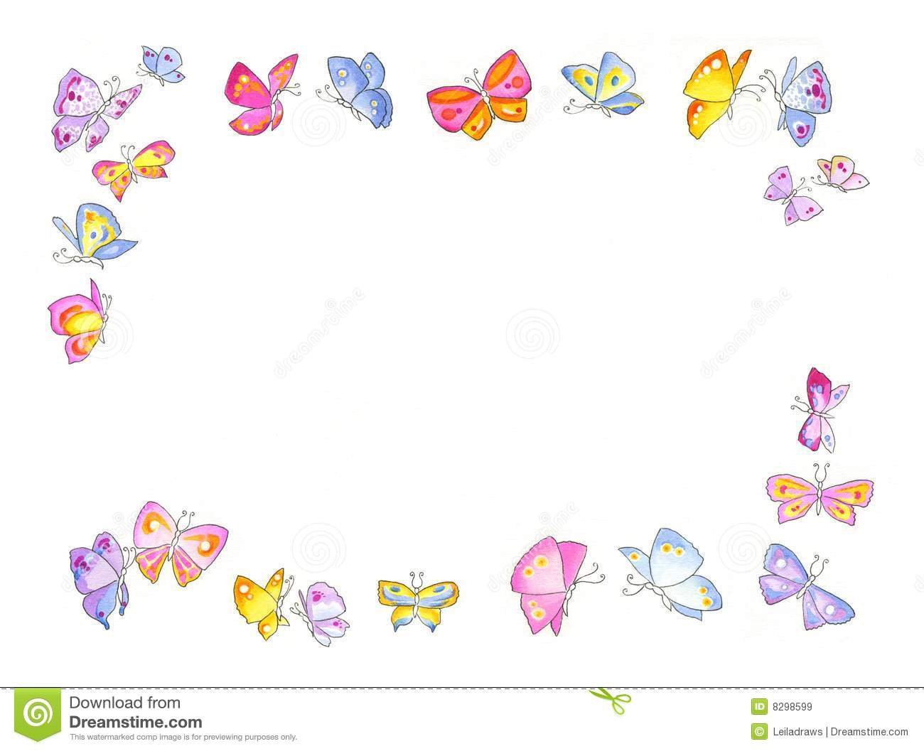 cartoon butterfly frames royalty free stock images butterfly frame image8298599