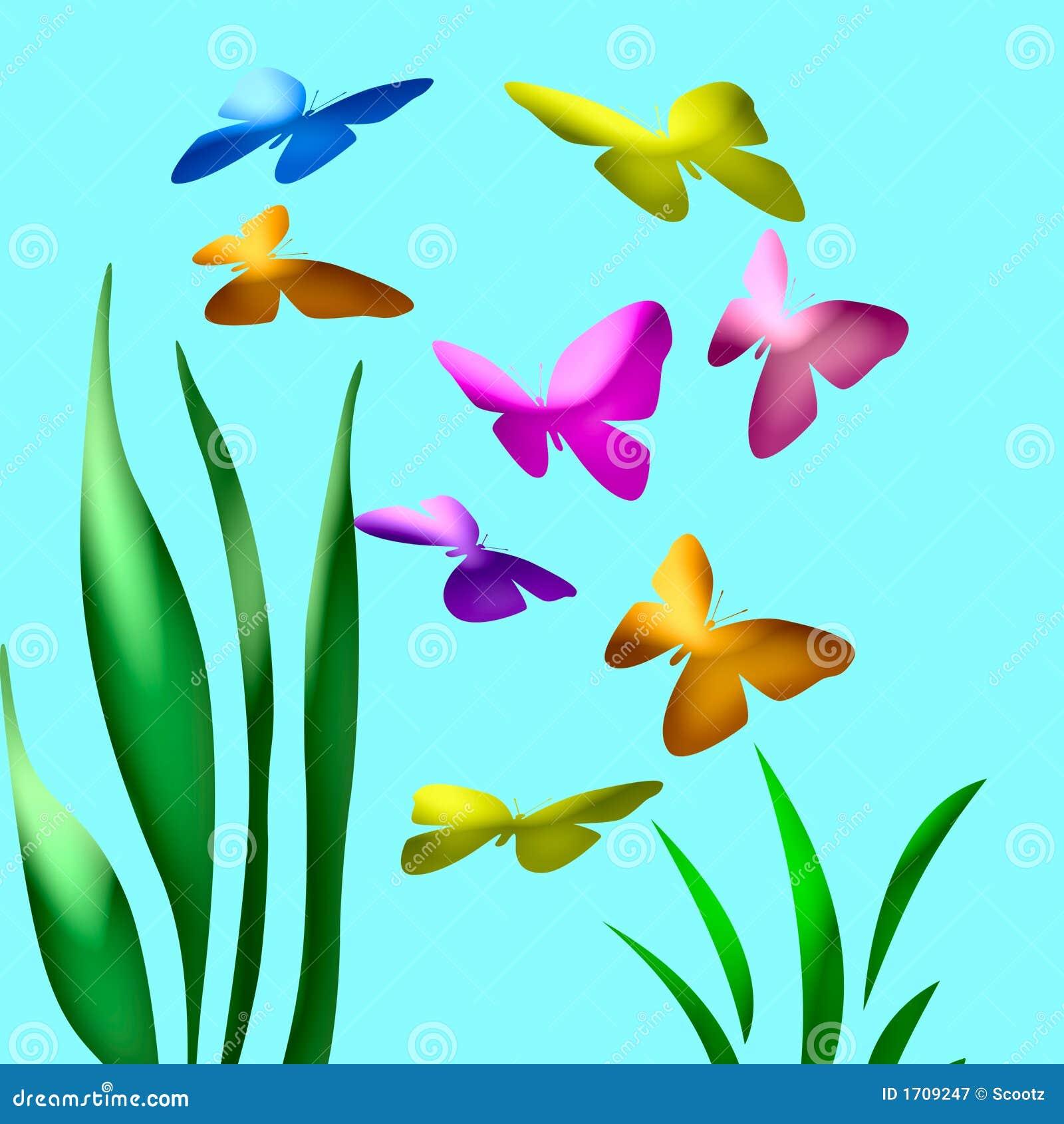 Superior Abstract Art Butterflies Garden ...