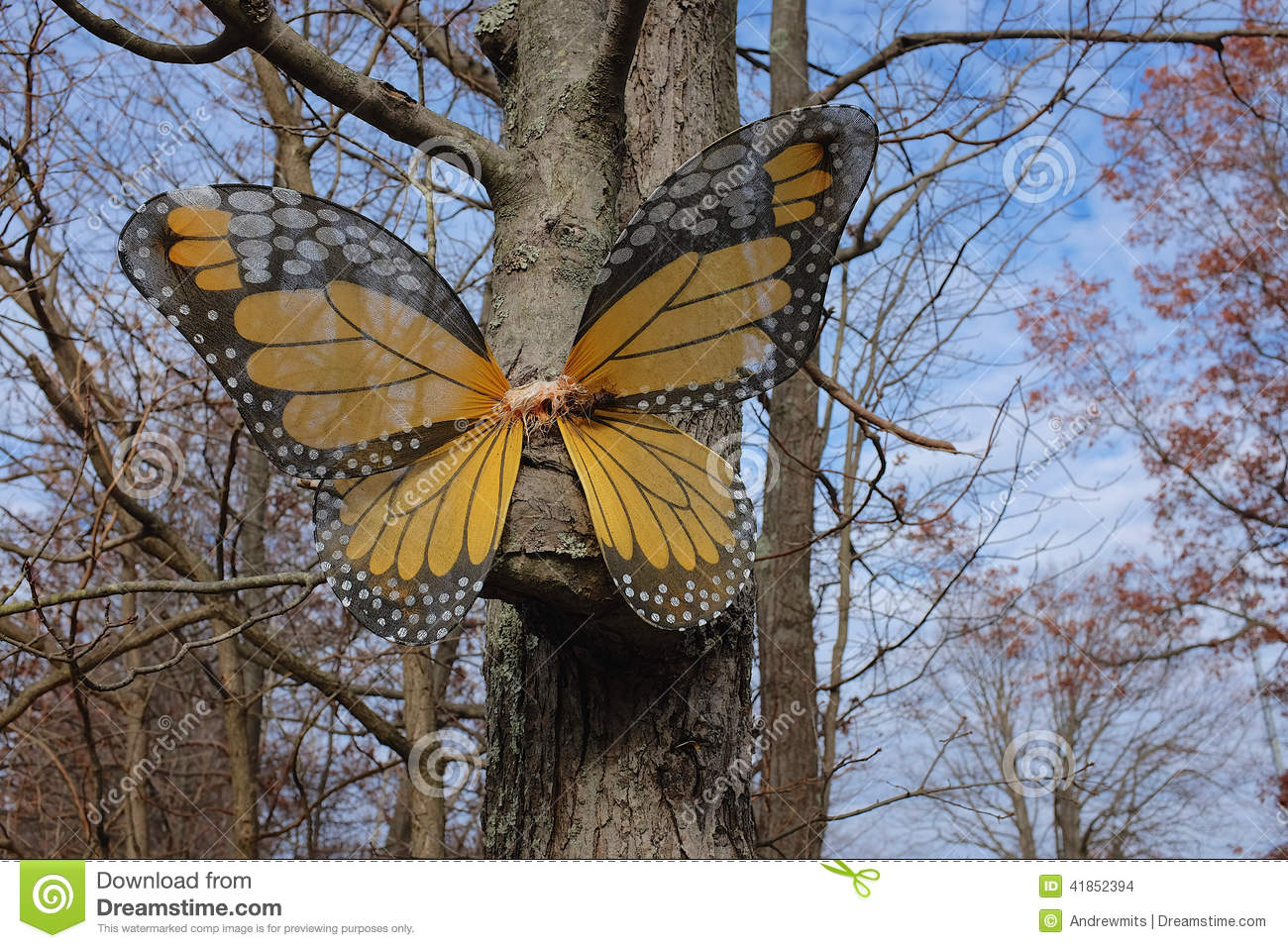 Butterfly garden decoration stock photo image 41852394 for Butterfly lawn decorations