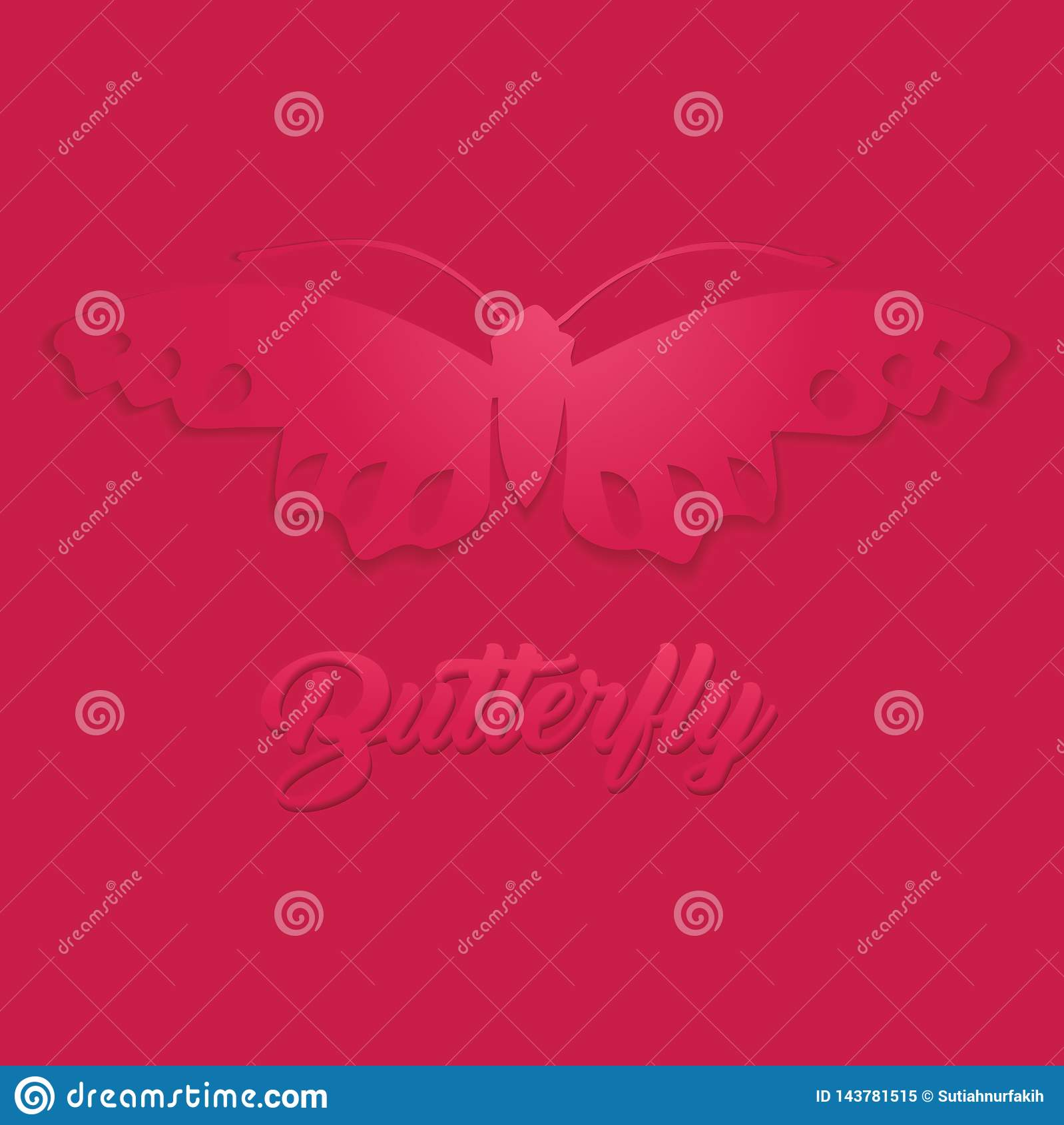Butterfly Geometric paper craft style