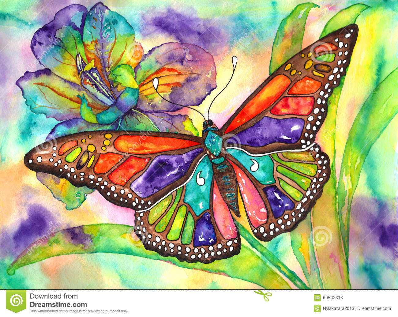 https://thumbs.dreamstime.com/z/butterfly-iris-color-burst-watercolor-hand-painting-60542313.jpg