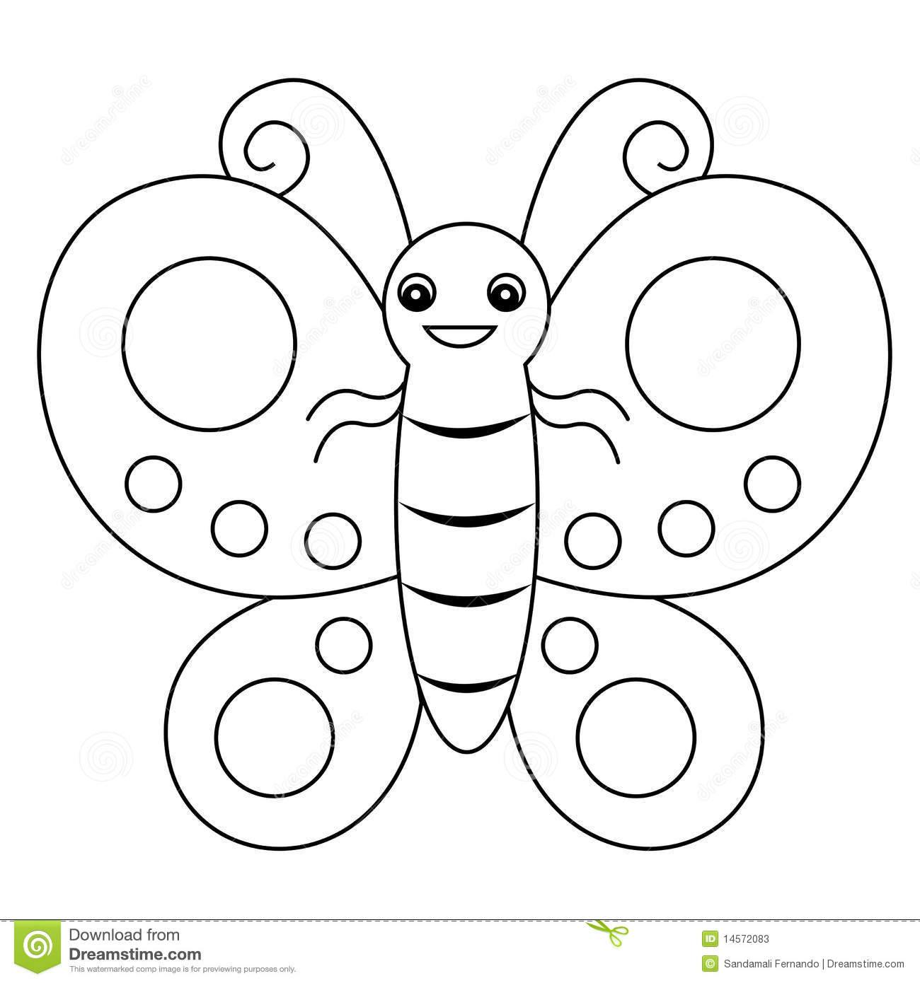 Butterfly coloring book graphic /(lineart) illustration isolated on ...