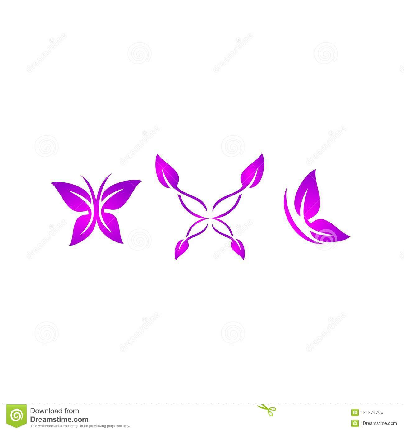 Butterfly Logo Beauty Spa Relax Yoga Lifestyle Abstract