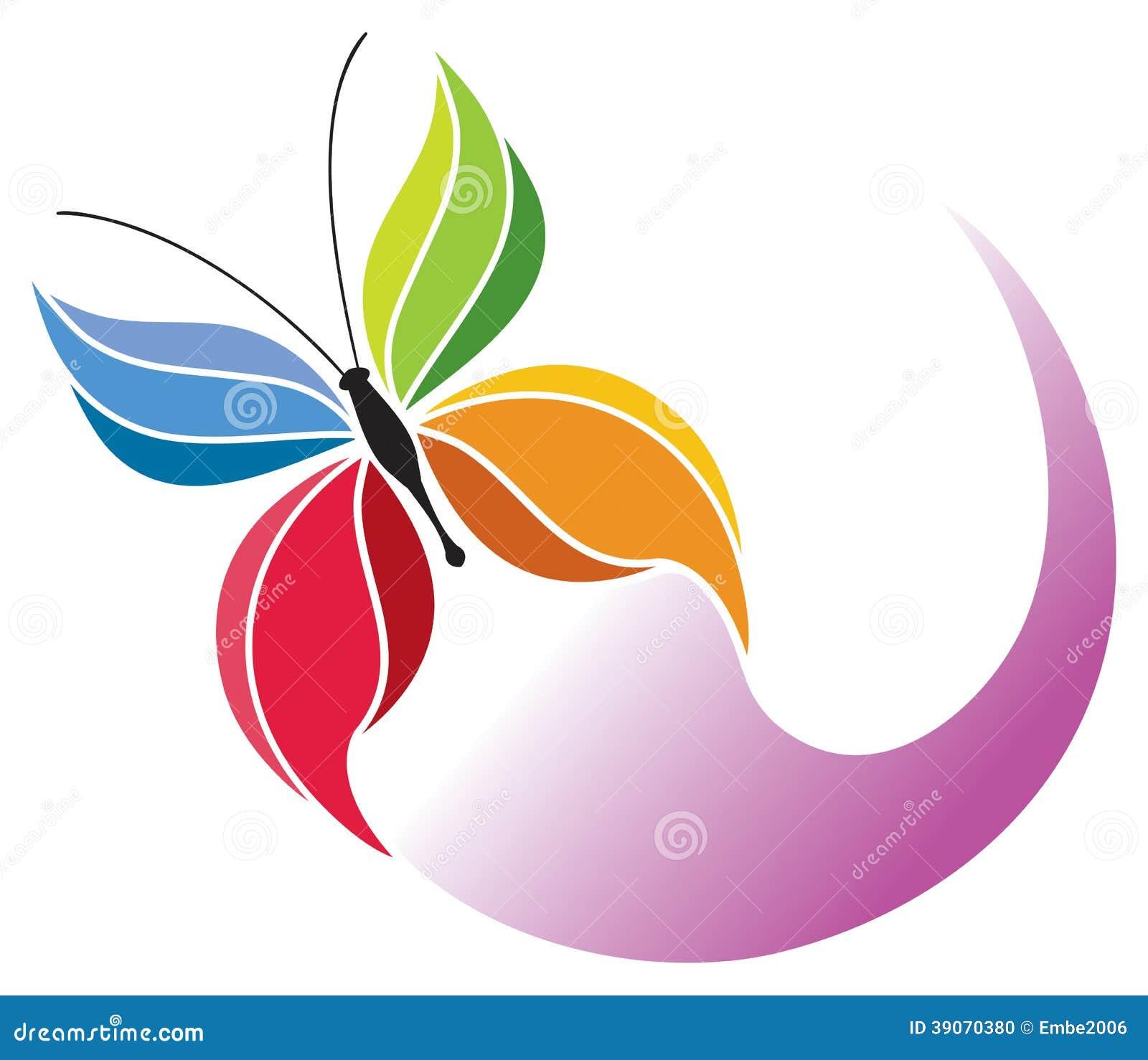 Rainbow butterfly logo - photo#5