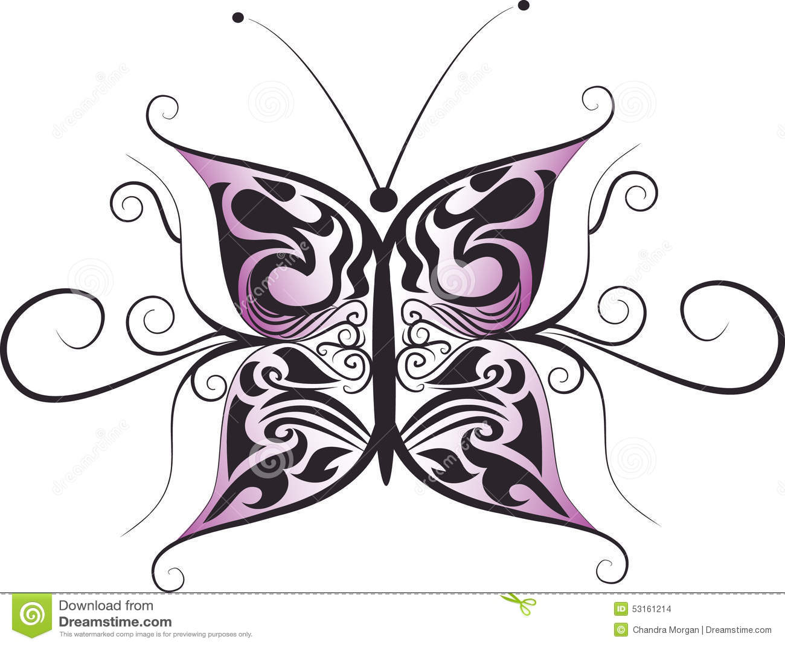 Butterfly logo design stock illustration image 53161214 for Tattoo style logo design