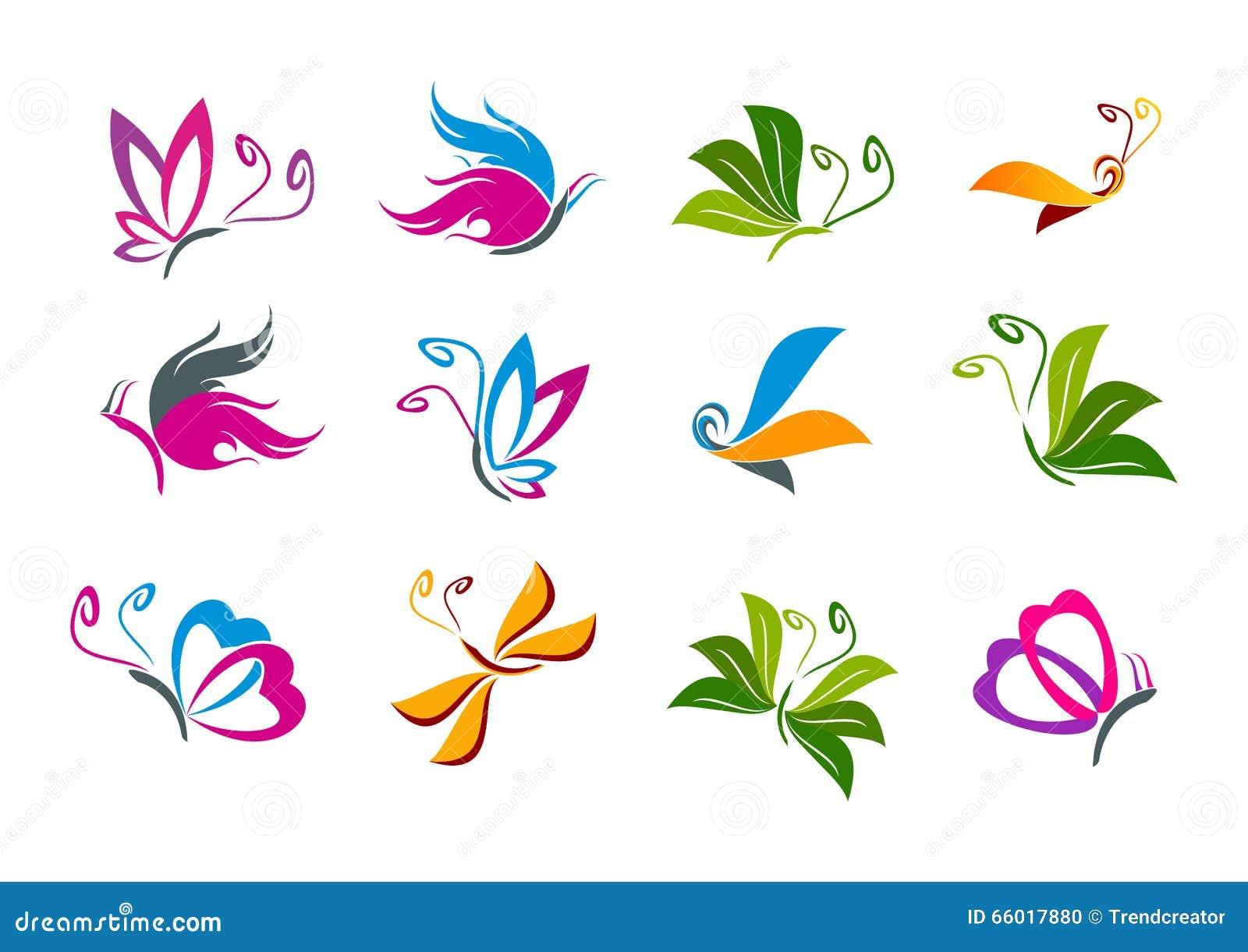 Rainbow Butterfly  Letter Logo