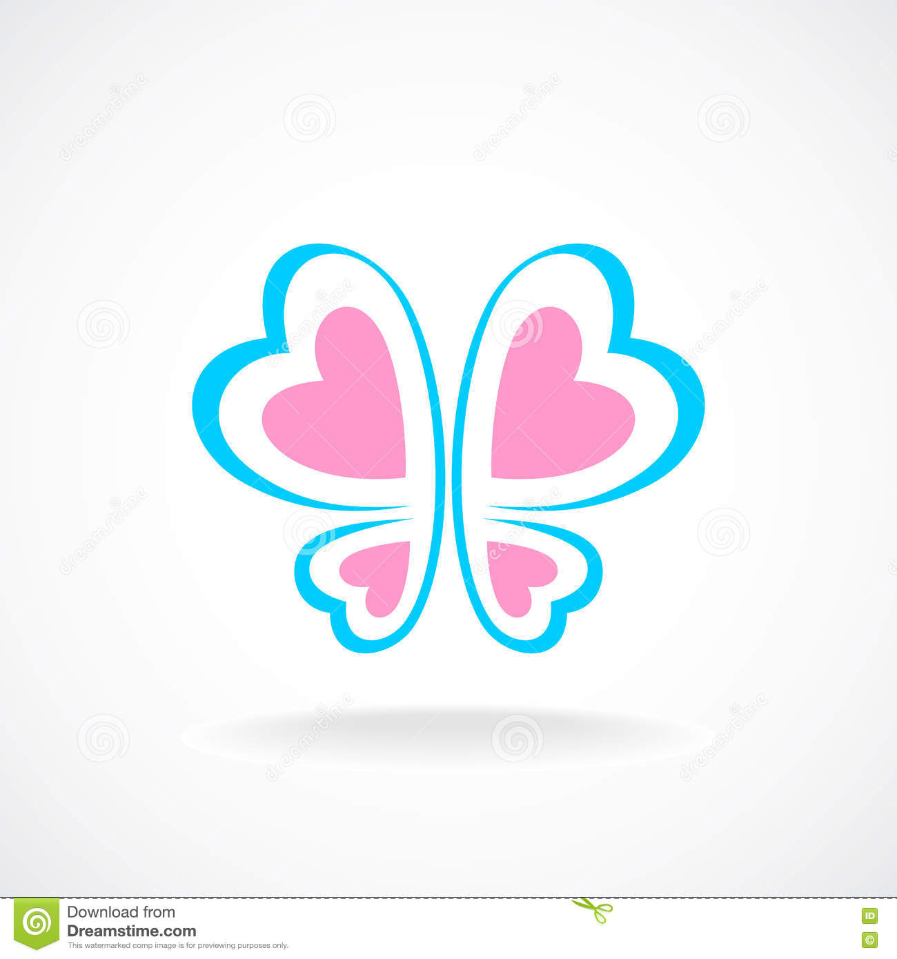 butterfly logo template soft colors stock vector illustration of
