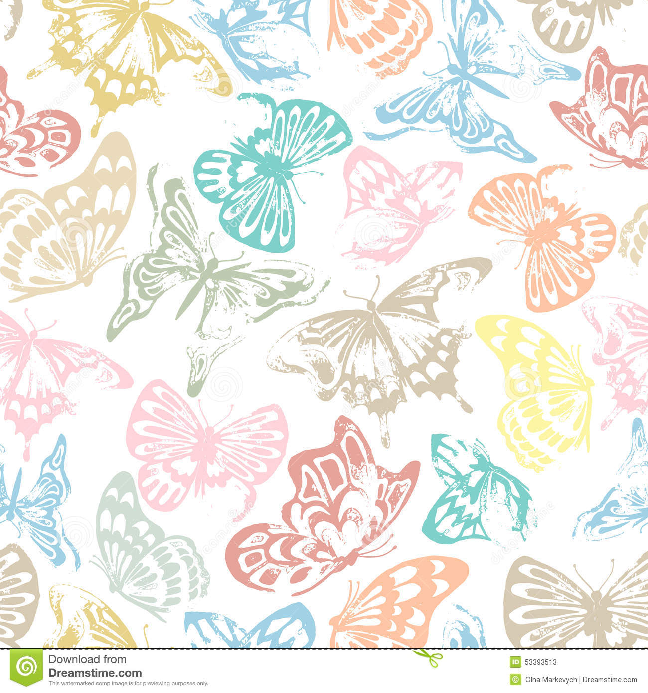 Butterfly Pattern Stock VectorImage53393513