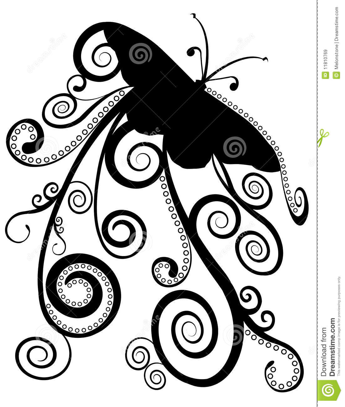 butterfly spirals design stock illustration  image of