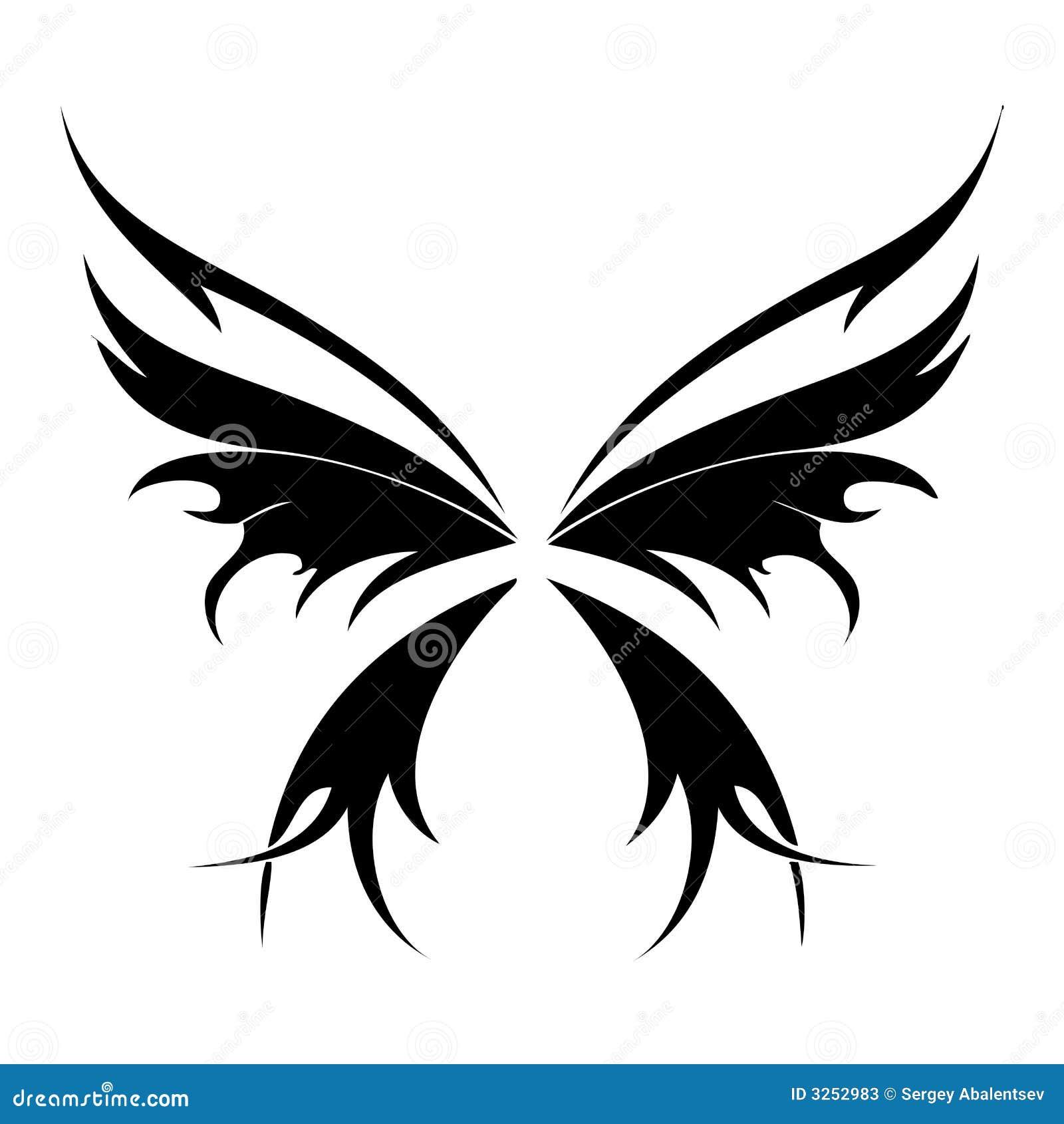 Трафареты на тату бабочка