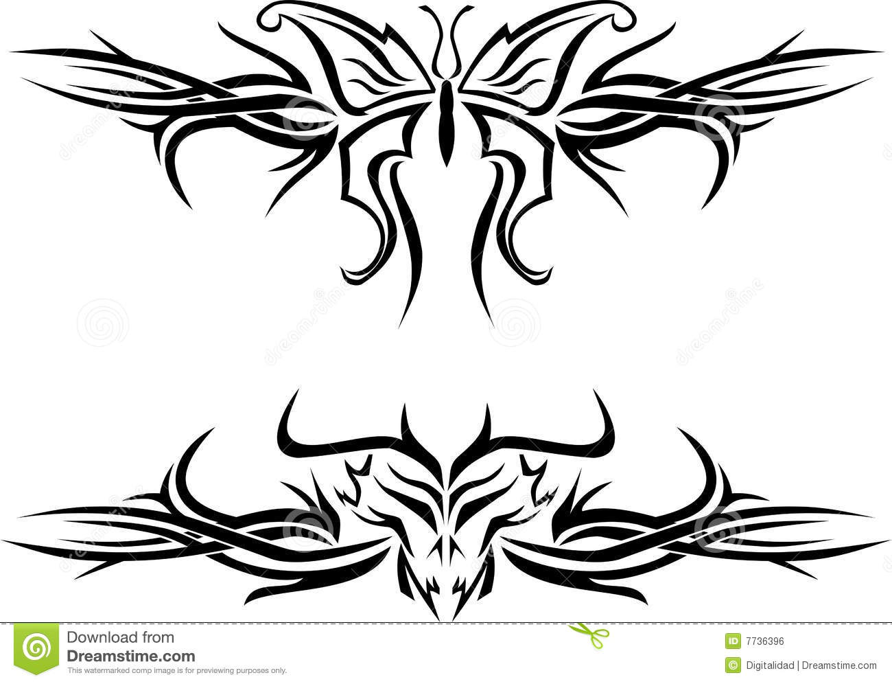 butterfly tattoo royalty free stock image image 7736396. Black Bedroom Furniture Sets. Home Design Ideas