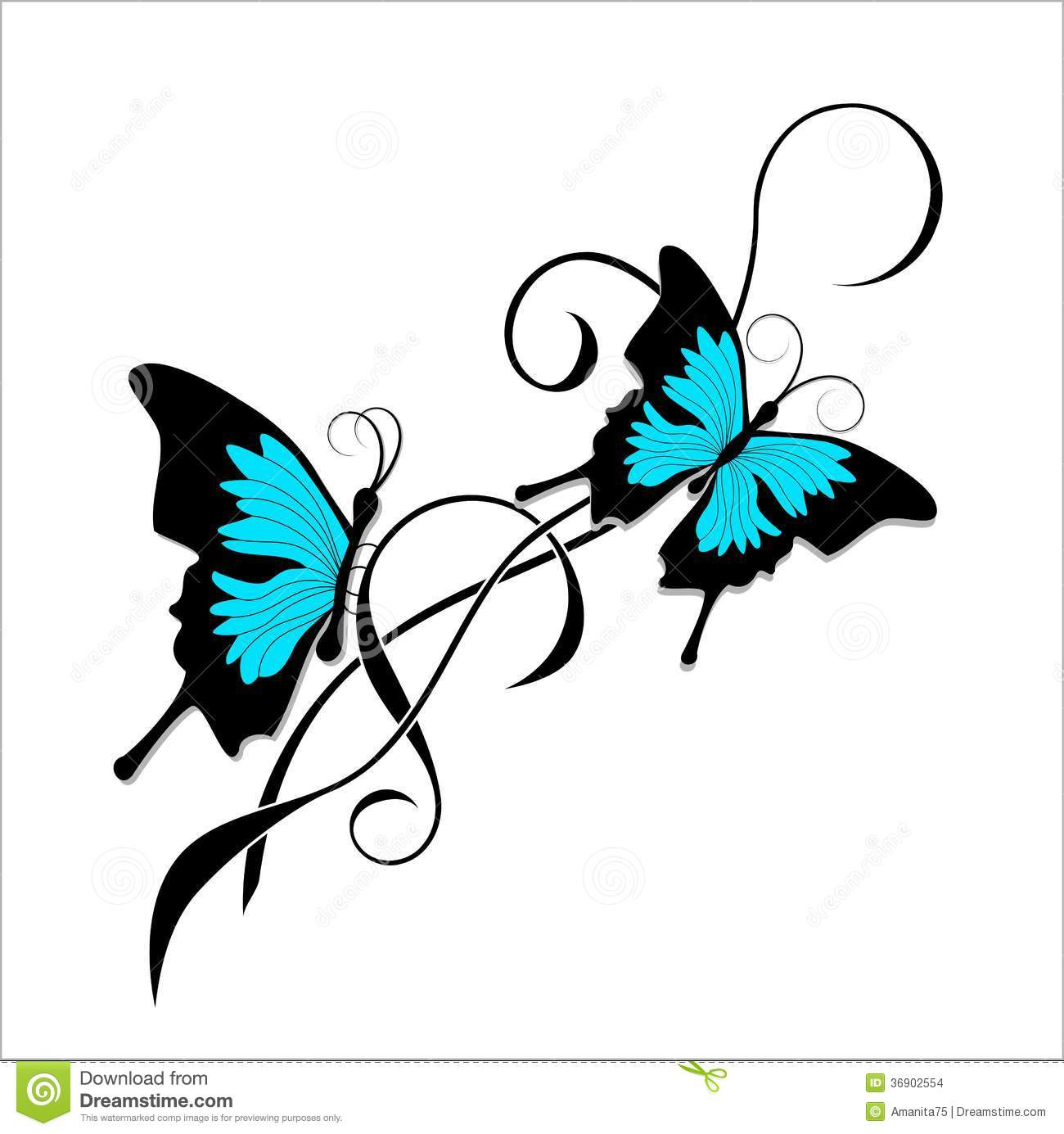 Tribal-Tattoos butterfly-tattoo-black-blue-tribal-beautiful-image-36902554