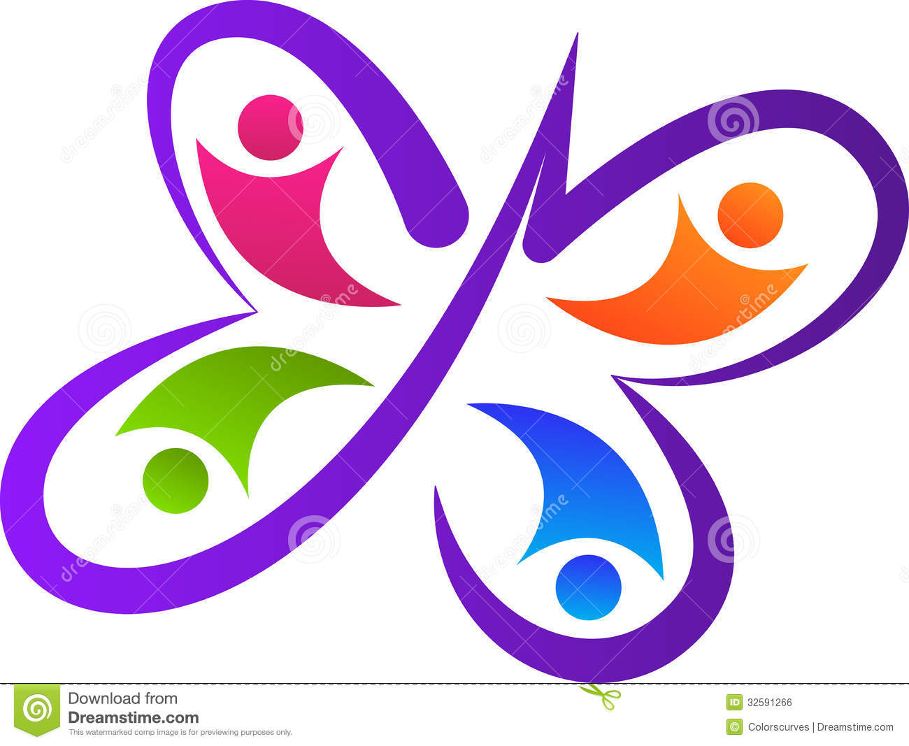 Butterfly Team Logo Stock Vector Illustration Of Design 32591266