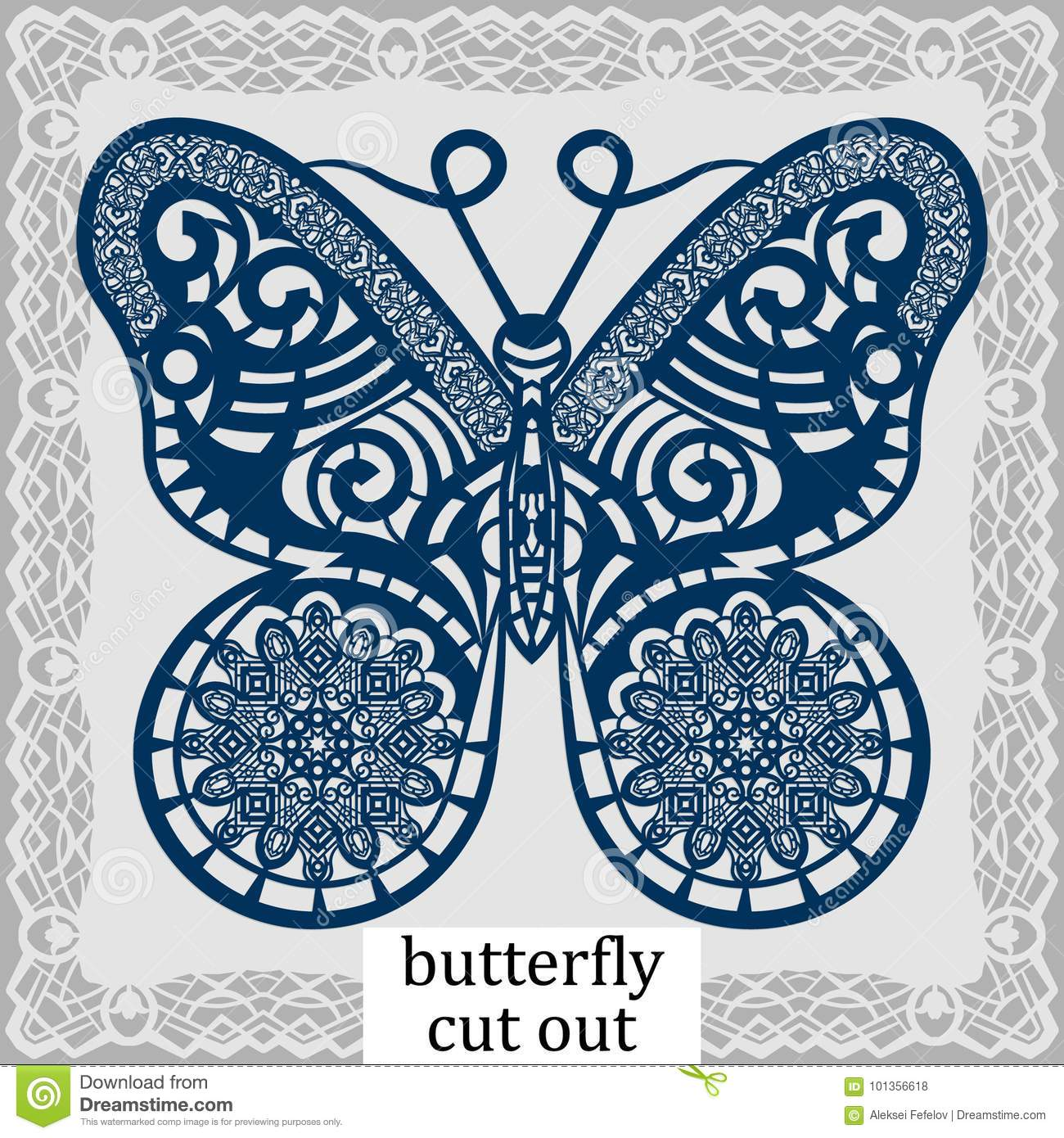 Butterfly - A Template For Laser Cutting  Design Element For A