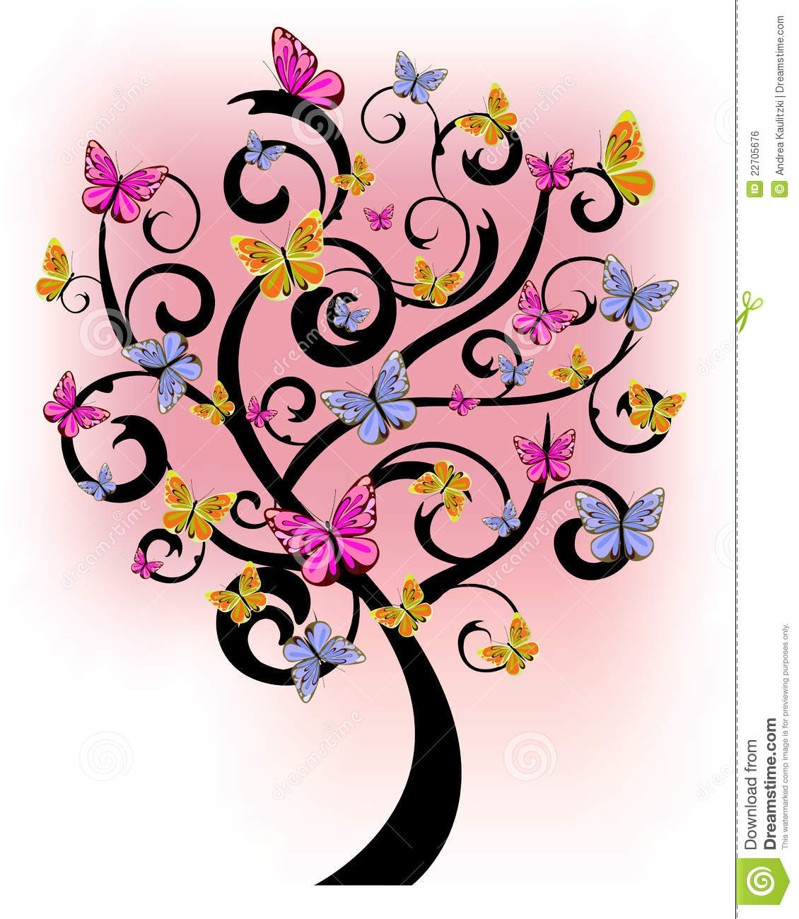 Butterfly Tree Royalty Free Stock Image Image 22705676