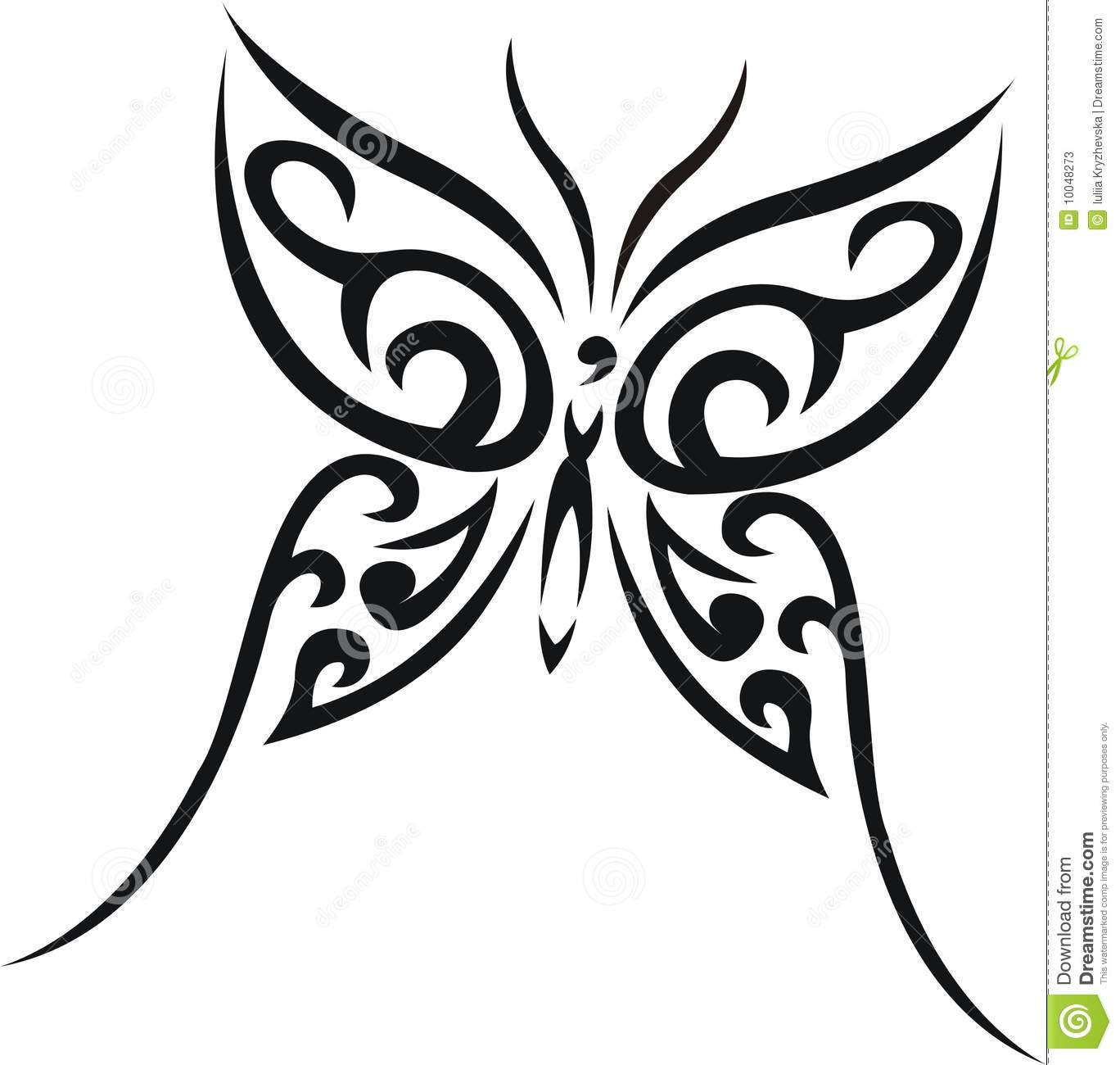 More Similar Stock Images Of Butterfly Tribal Tattoo